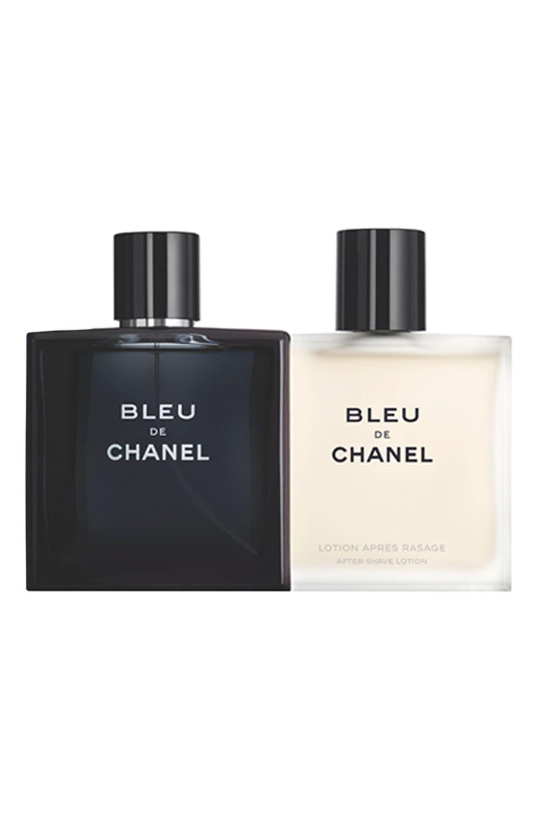 CHANEL BLEU DE CHANEL<br />After Shave Lotion Set, Main, color, 000