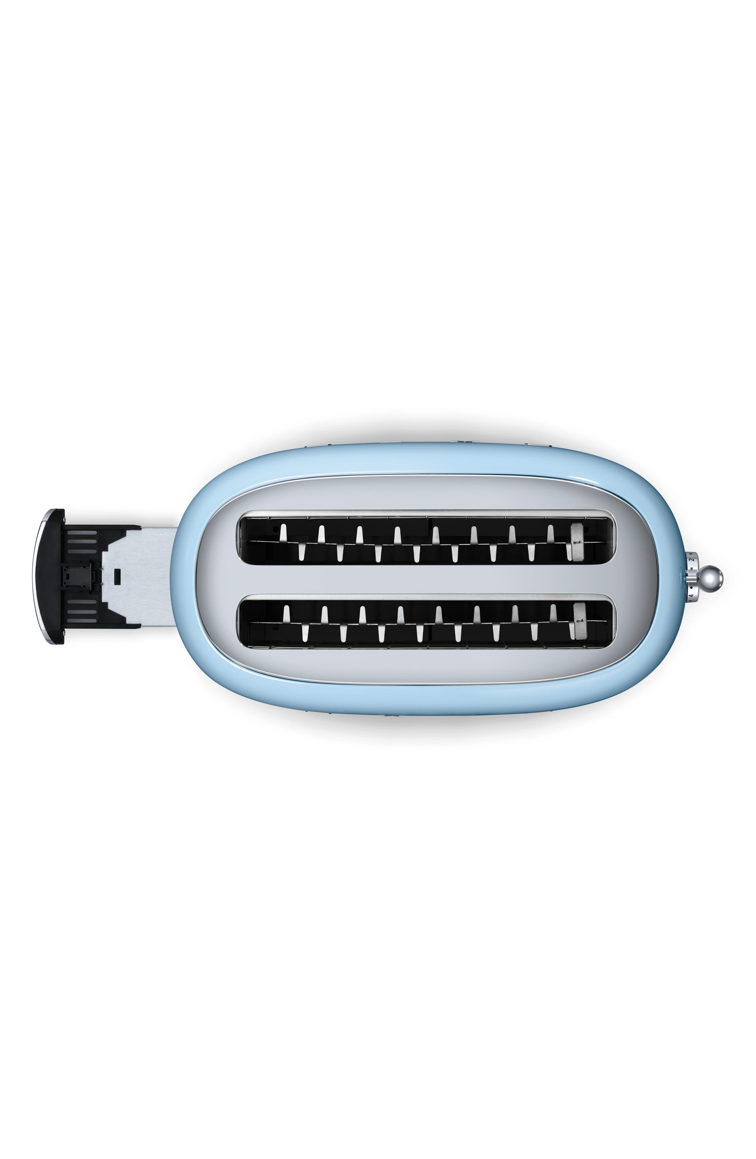 SMEG, 50s Retro Style Four-Slice Toaster, Alternate thumbnail 3, color, PASTEL BLUE