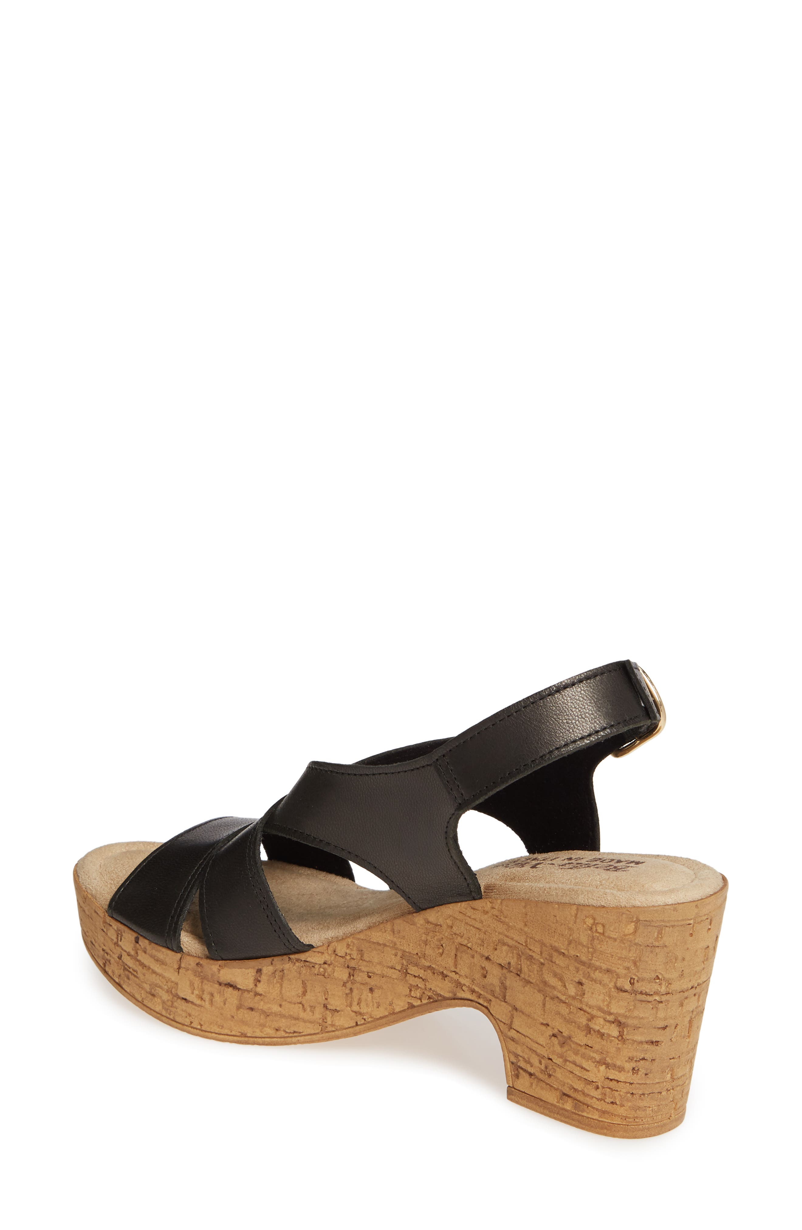 BELLA VITA, Jaz Platform Sandal, Alternate thumbnail 2, color, BLACK ITALIAN LEATHER