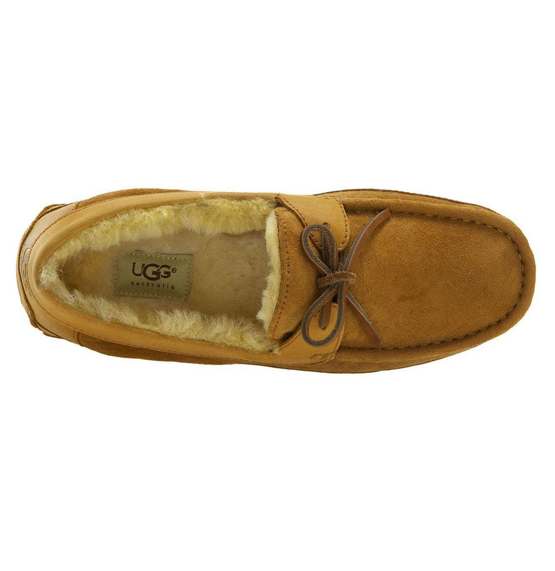 UGG<SUP>®</SUP>, 'Byron' Slipper, Alternate thumbnail 5, color, CHESTNUT