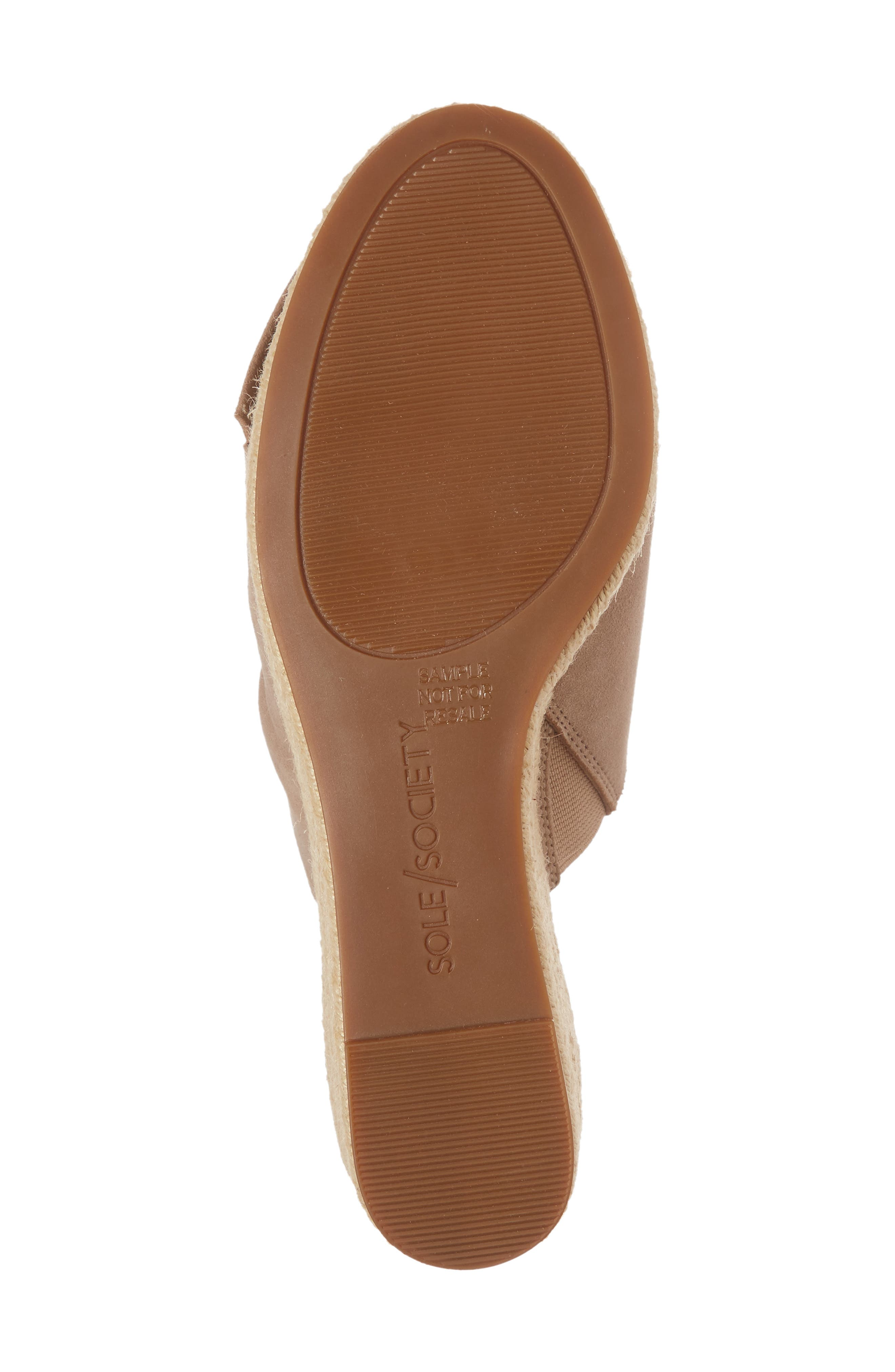 SOLE SOCIETY, Carima Espadrille Wedge, Alternate thumbnail 6, color, TAUPE FABRIC