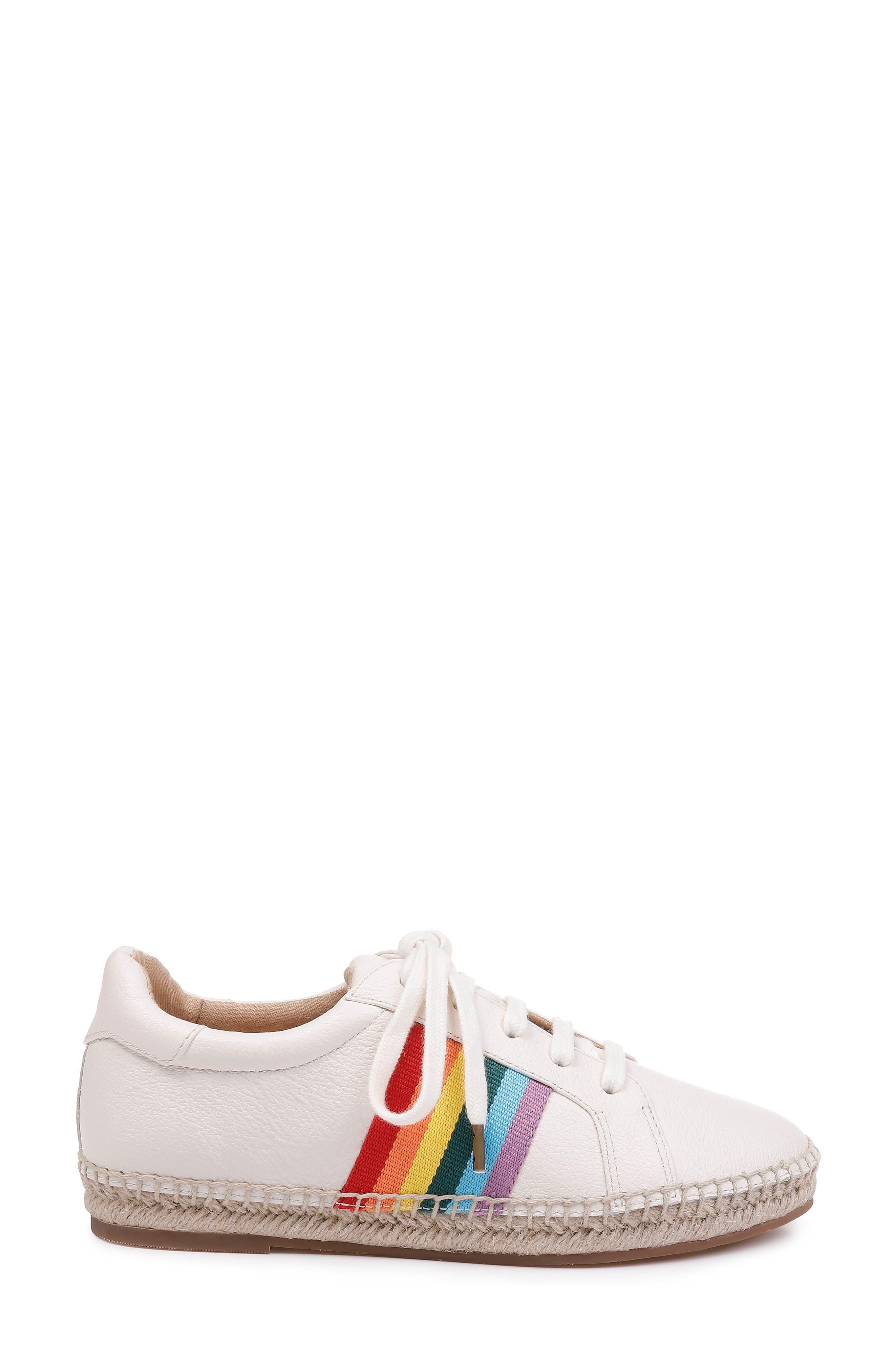 SPLENDID, Sada Espadrille Sneaker, Alternate thumbnail 3, color, OFF WHITE LEATHER