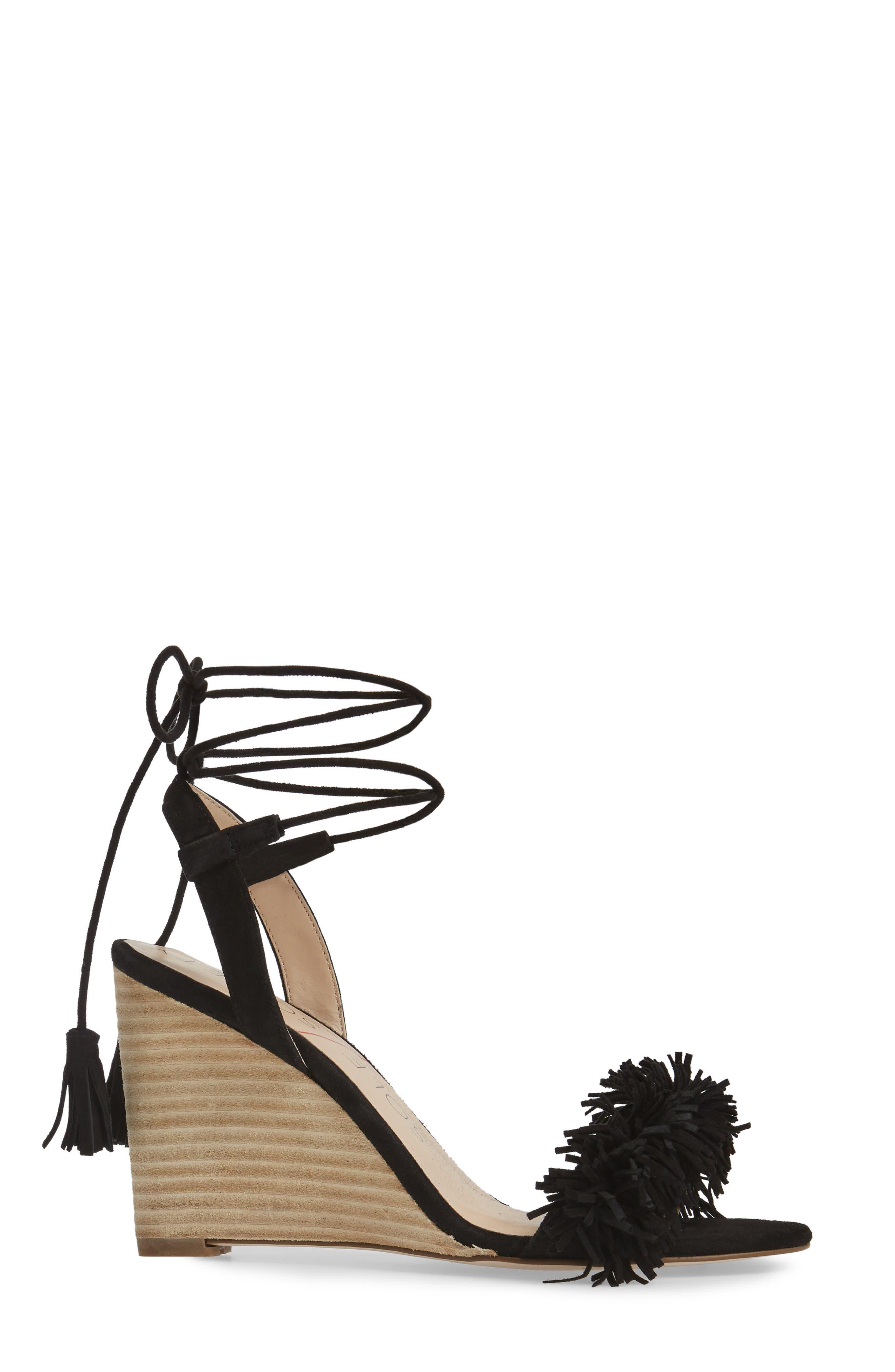 SOLE SOCIETY, Rosea Ankle Wrap Sandal, Alternate thumbnail 3, color, 001