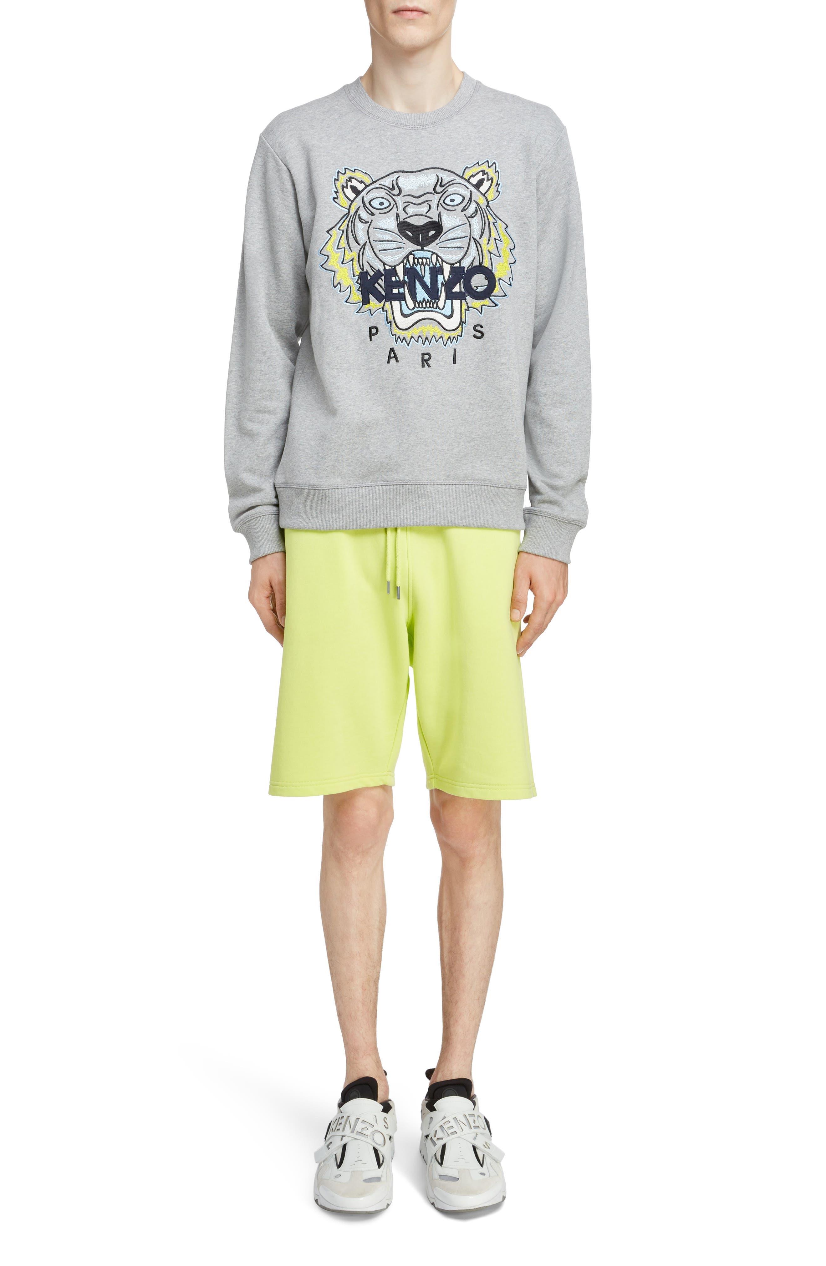 KENZO, Tiger Sweatshirt, Alternate thumbnail 6, color, PEARL GREY