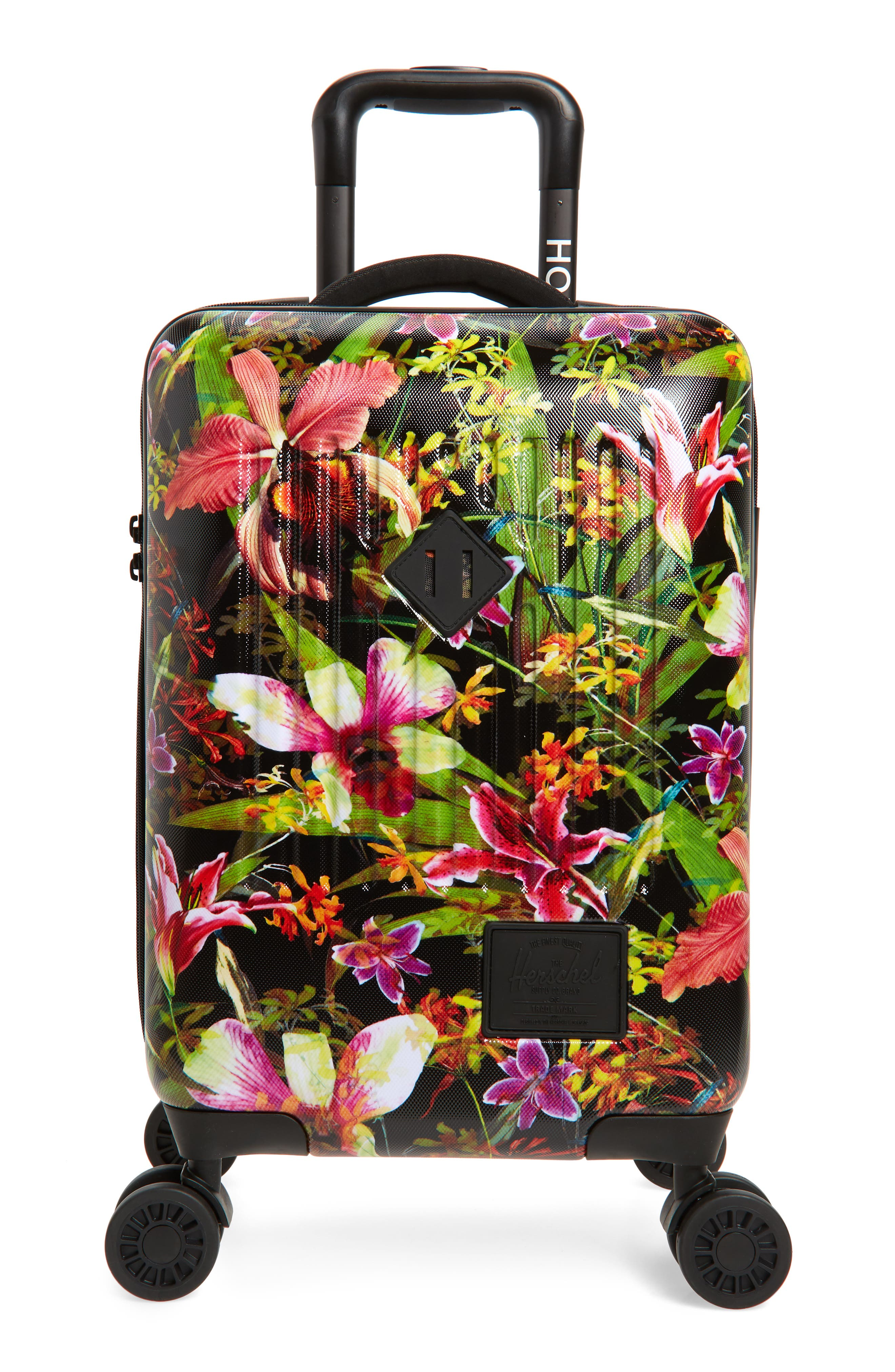 HERSCHEL SUPPLY CO., Trade 21-Inch Wheeled Carry-On Bag, Main thumbnail 1, color, JUNGLE HOFFMAN