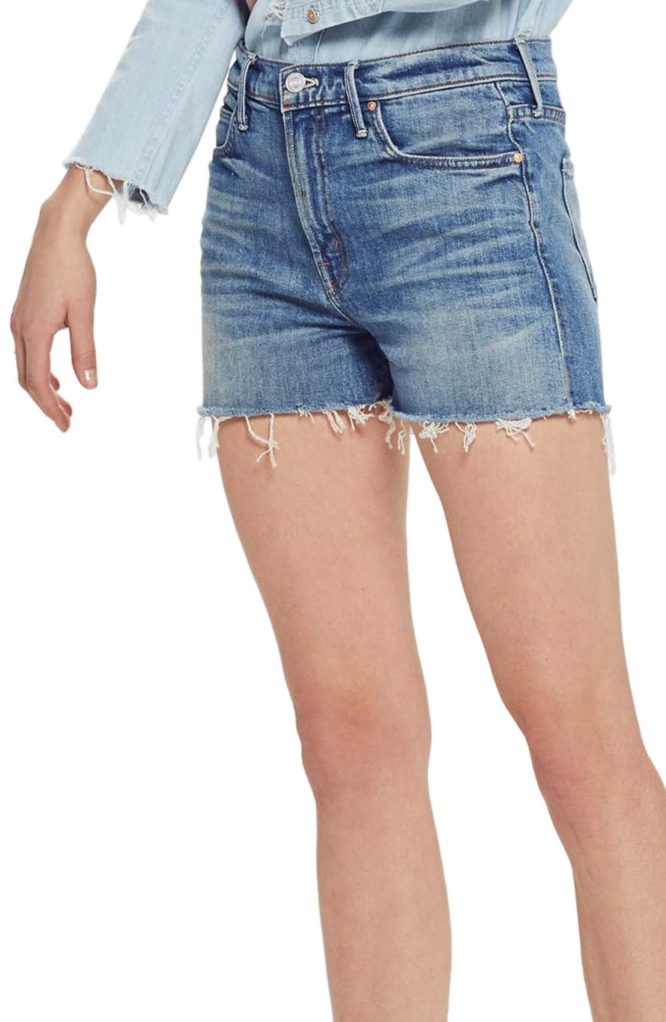 MOTHER The Dutchie Cutoff Shorts, Main, color, SACRED