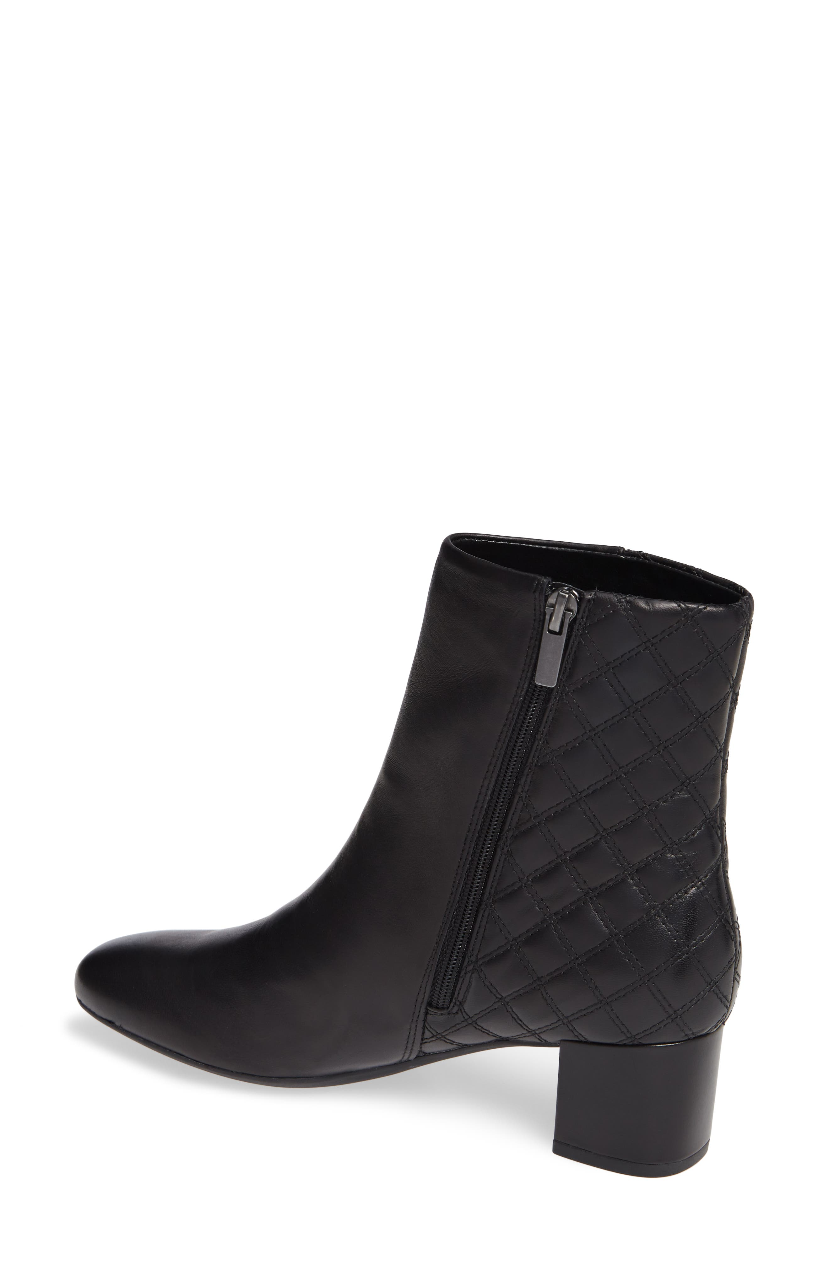 CLARKS<SUP>®</SUP>, Tealia Luck Bootie, Alternate thumbnail 2, color, BLACK LEATHER