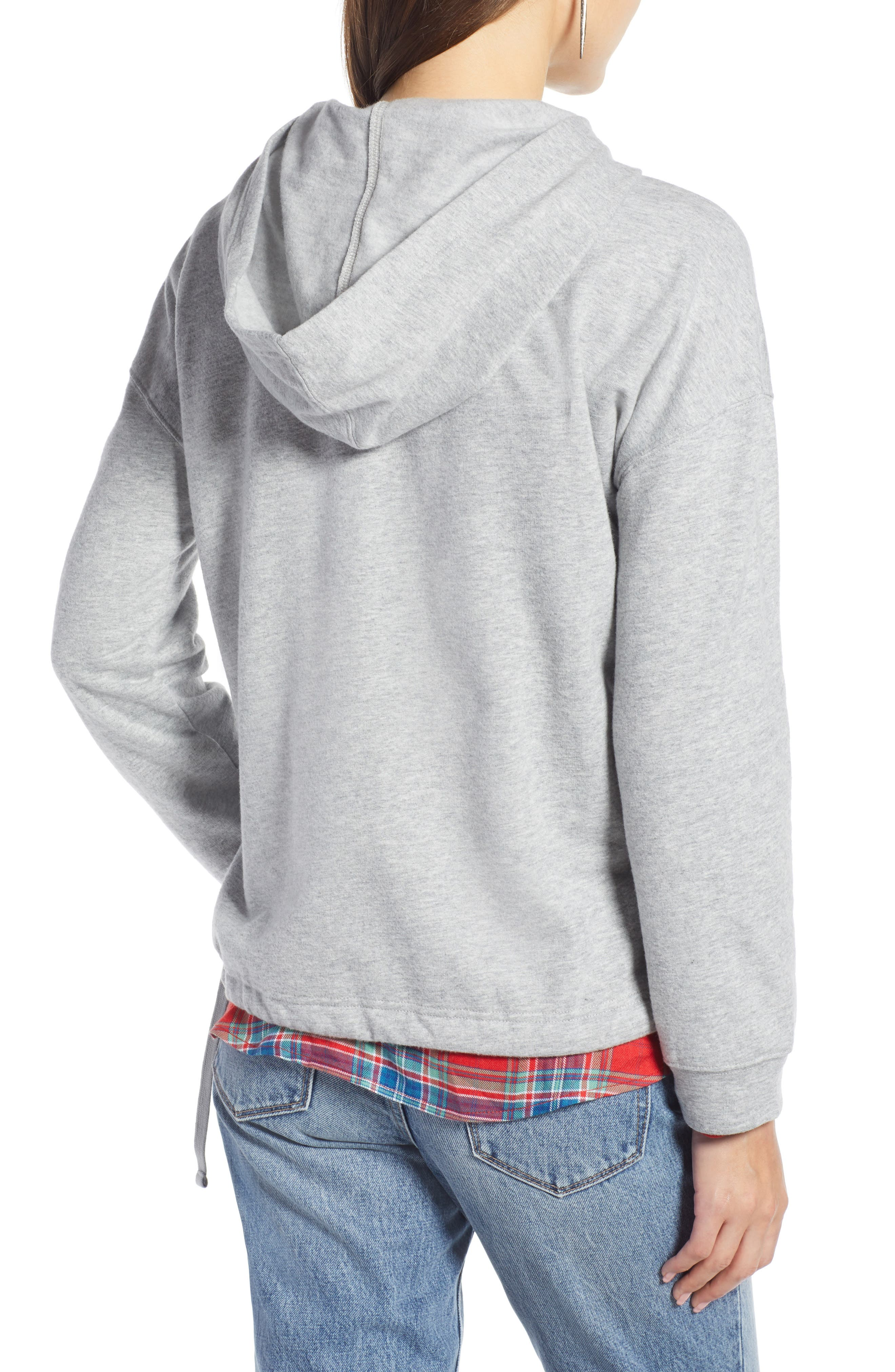 TREASURE & BOND, Drawstring Detail Hoodie, Alternate thumbnail 2, color, 030