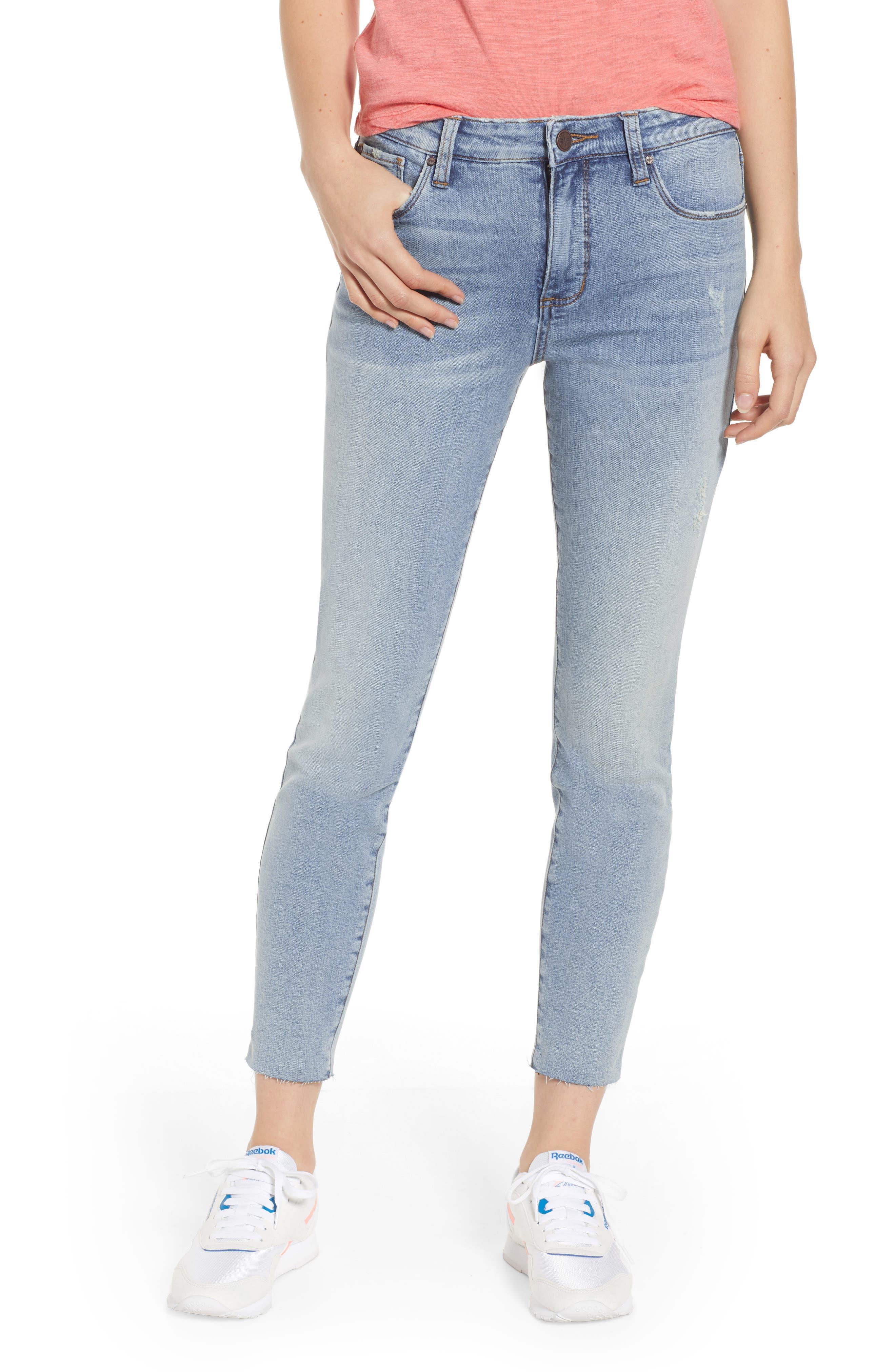 BP., High Waist Skinny Jeans, Main thumbnail 1, color, 400