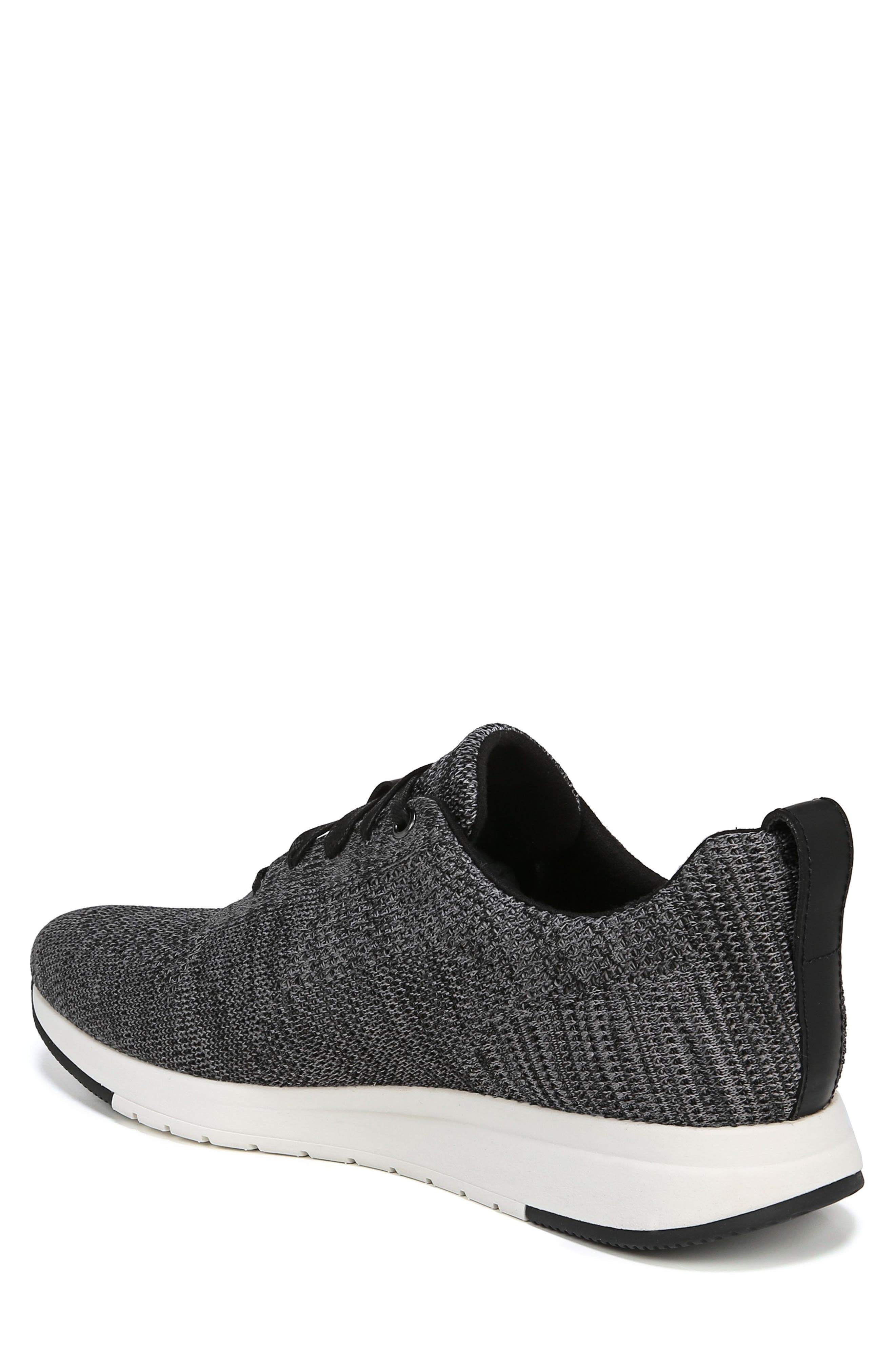 VINCE, Palo Knit Sneaker, Alternate thumbnail 2, color, MARL GREY/ BLACK