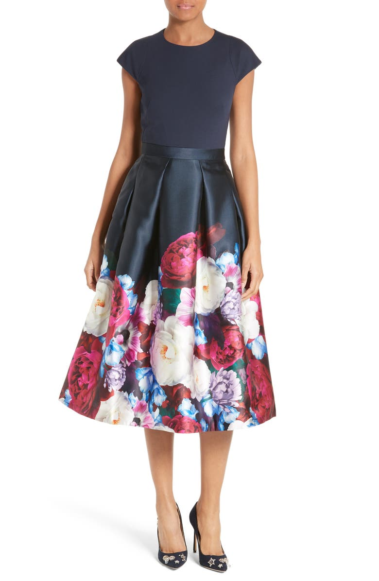 02c7f2430 TED BAKER LONDON Blushing Bouquet Fit & Flare Dress, Main, color, ...
