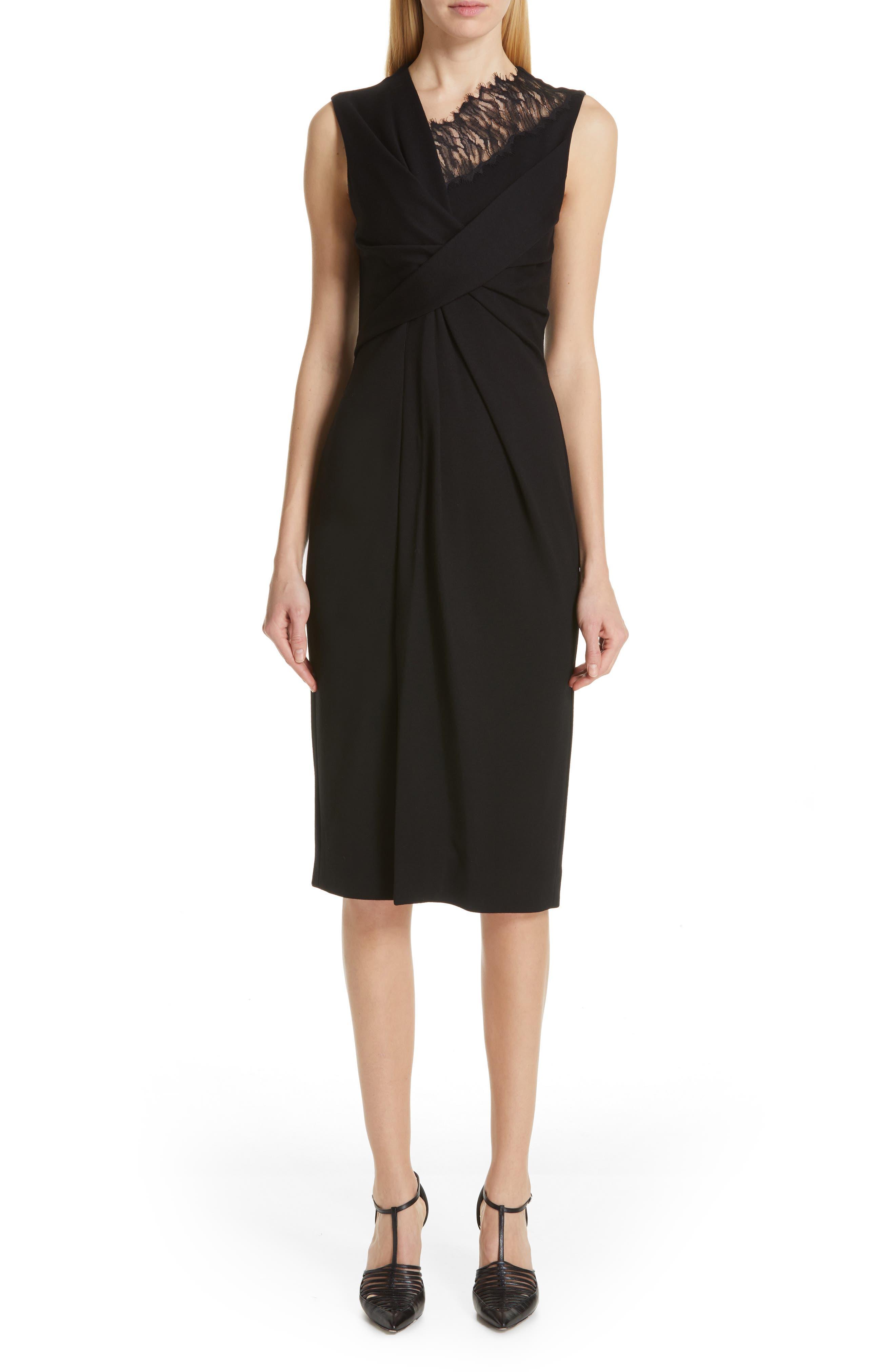 Jason Wu Collection Lace Trim Jersey Sheath Dress, Black