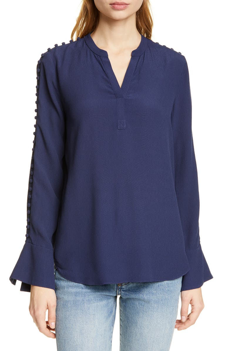 Joie Tops ABE BUTTON SLEEVE BLOUSE