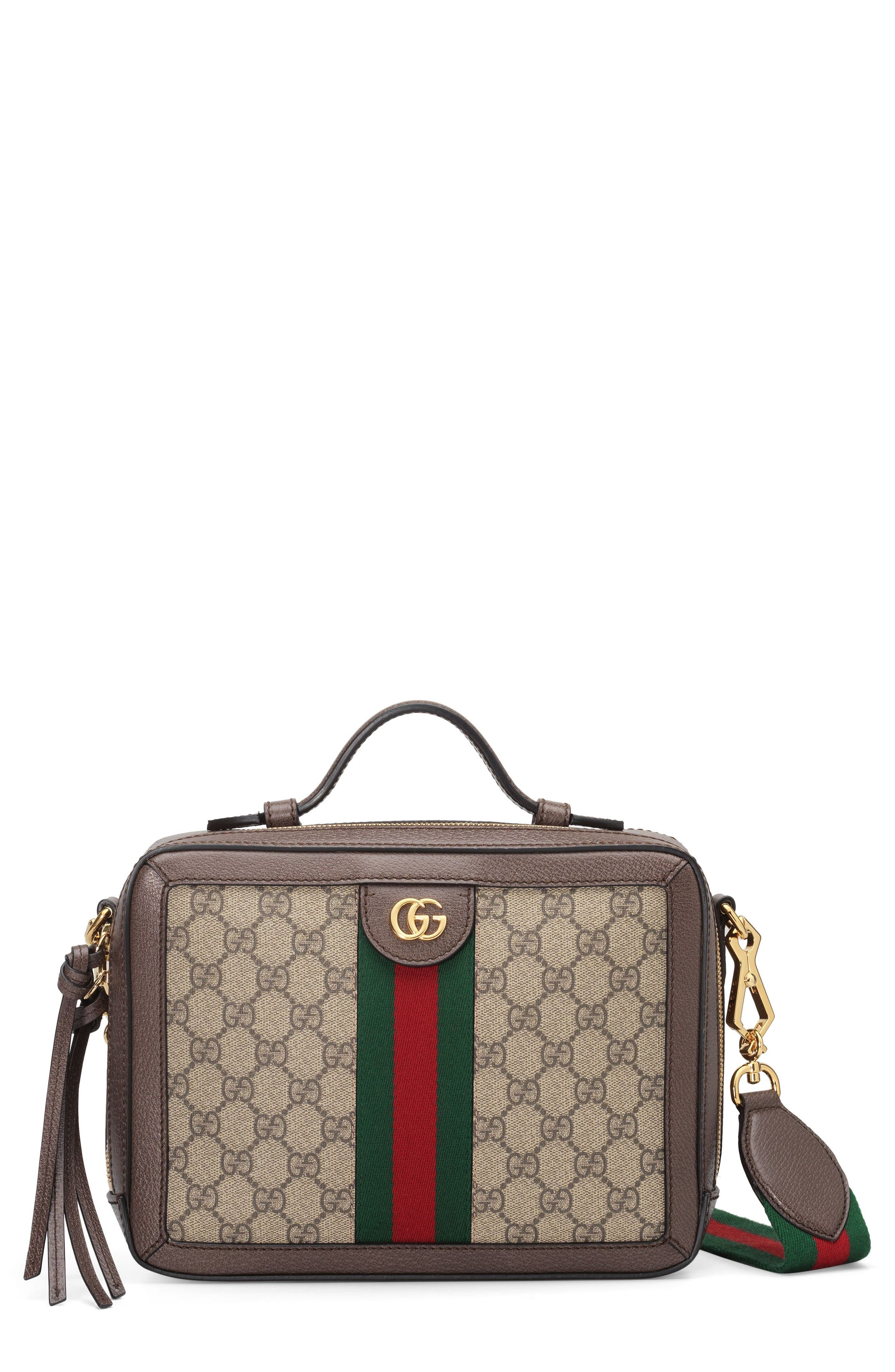 GUCCI, Small Ophidia GG Supreme Canvas Shoulder Bag, Main thumbnail 1, color, 250