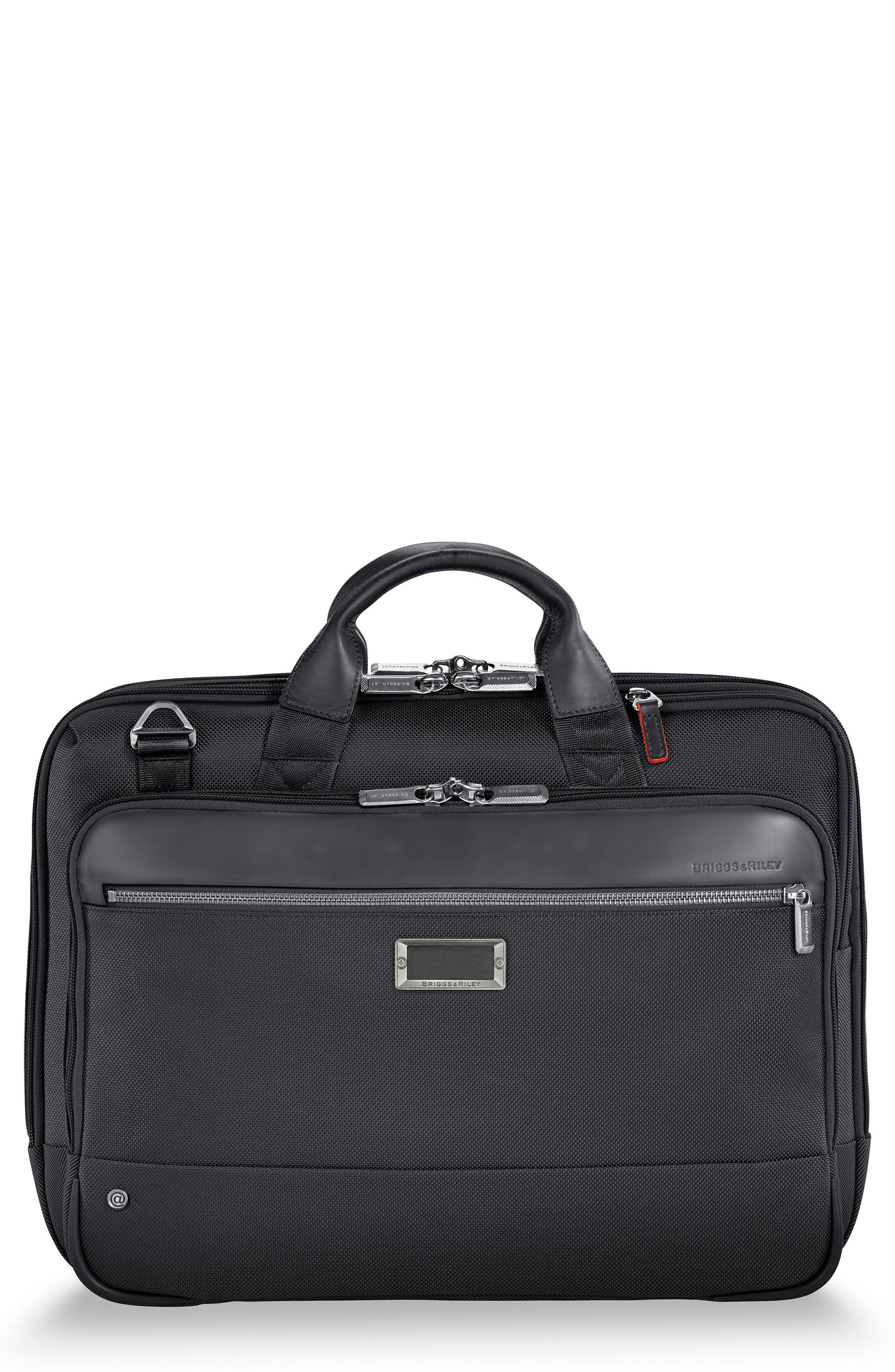 BRIGGS & RILEY, @work Medium Briefcase, Main thumbnail 1, color, BLACK