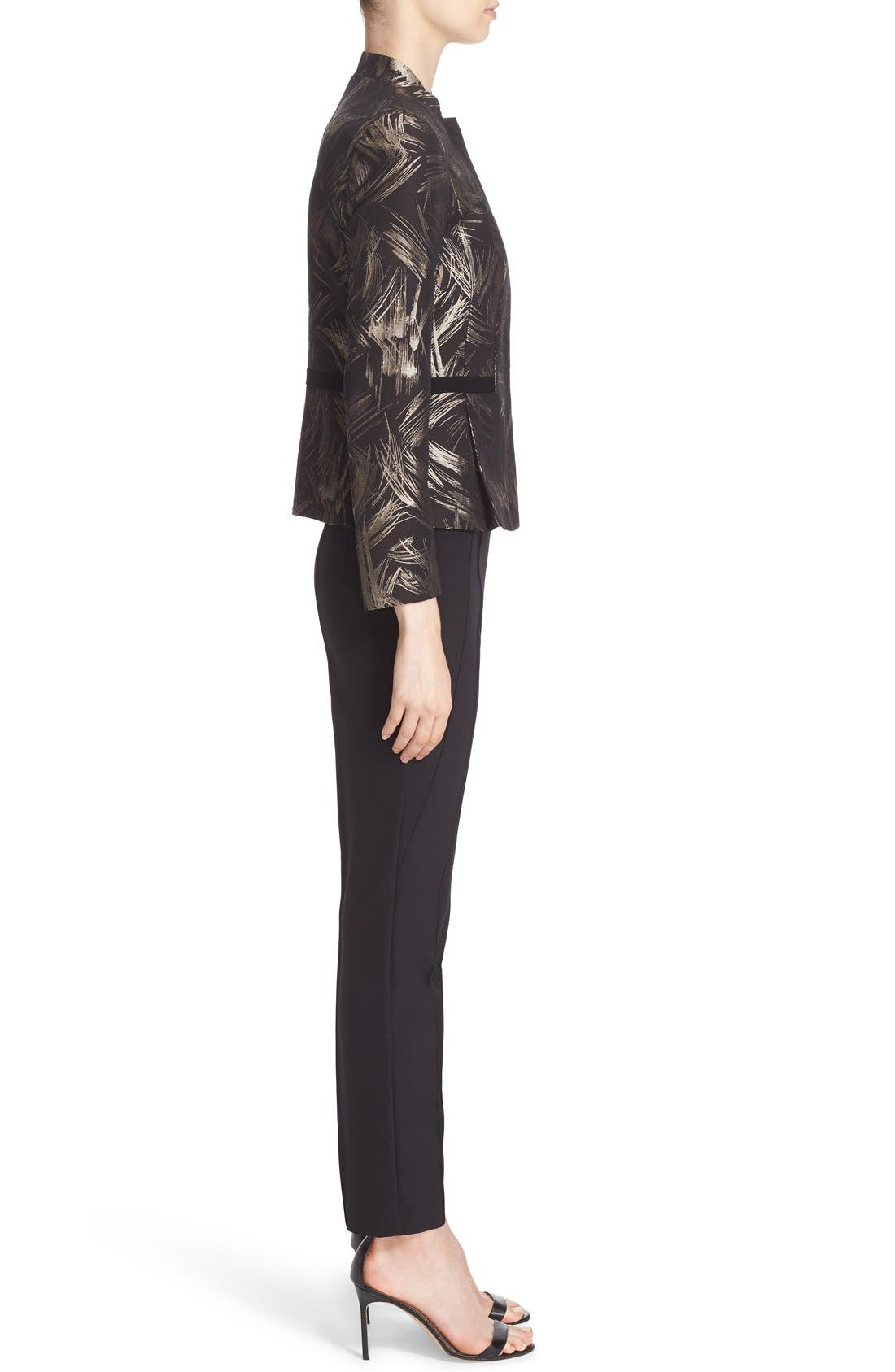 LAFAYETTE 148 NEW YORK, 'Gramercy' Acclaimed Stretch Pants, Alternate thumbnail 8, color, BLACK