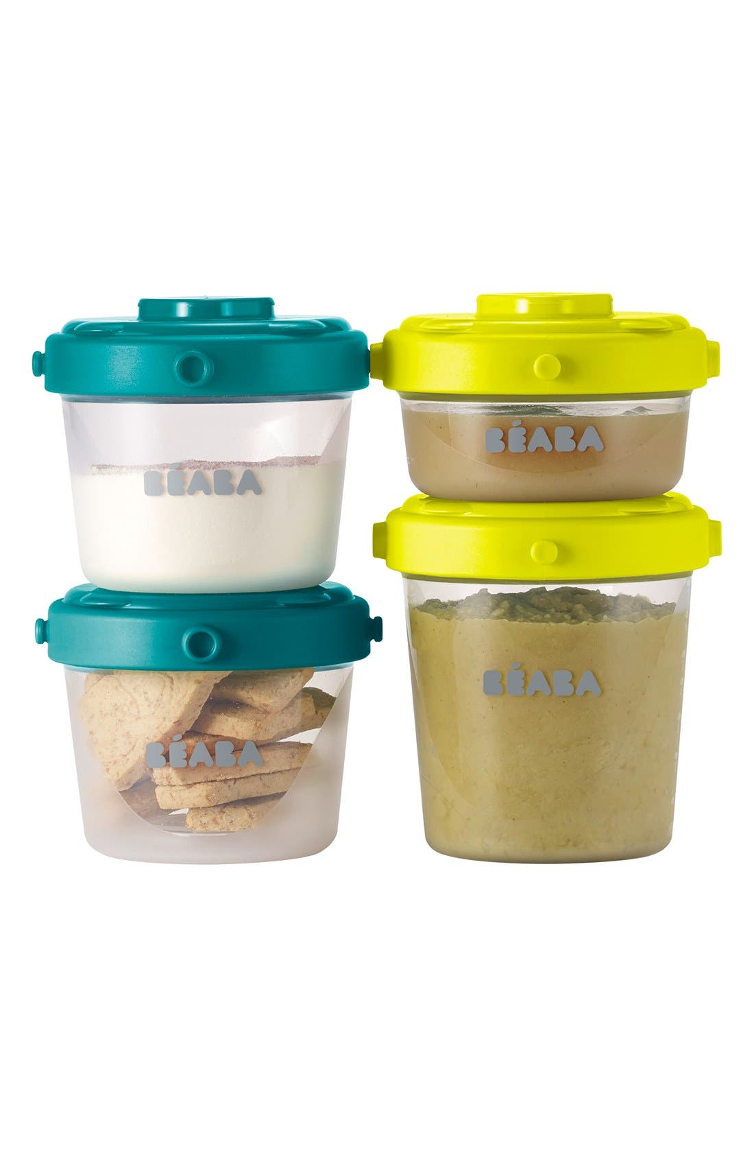 BÉABA, Clip Portion Containers, Alternate thumbnail 2, color, PEACOCK
