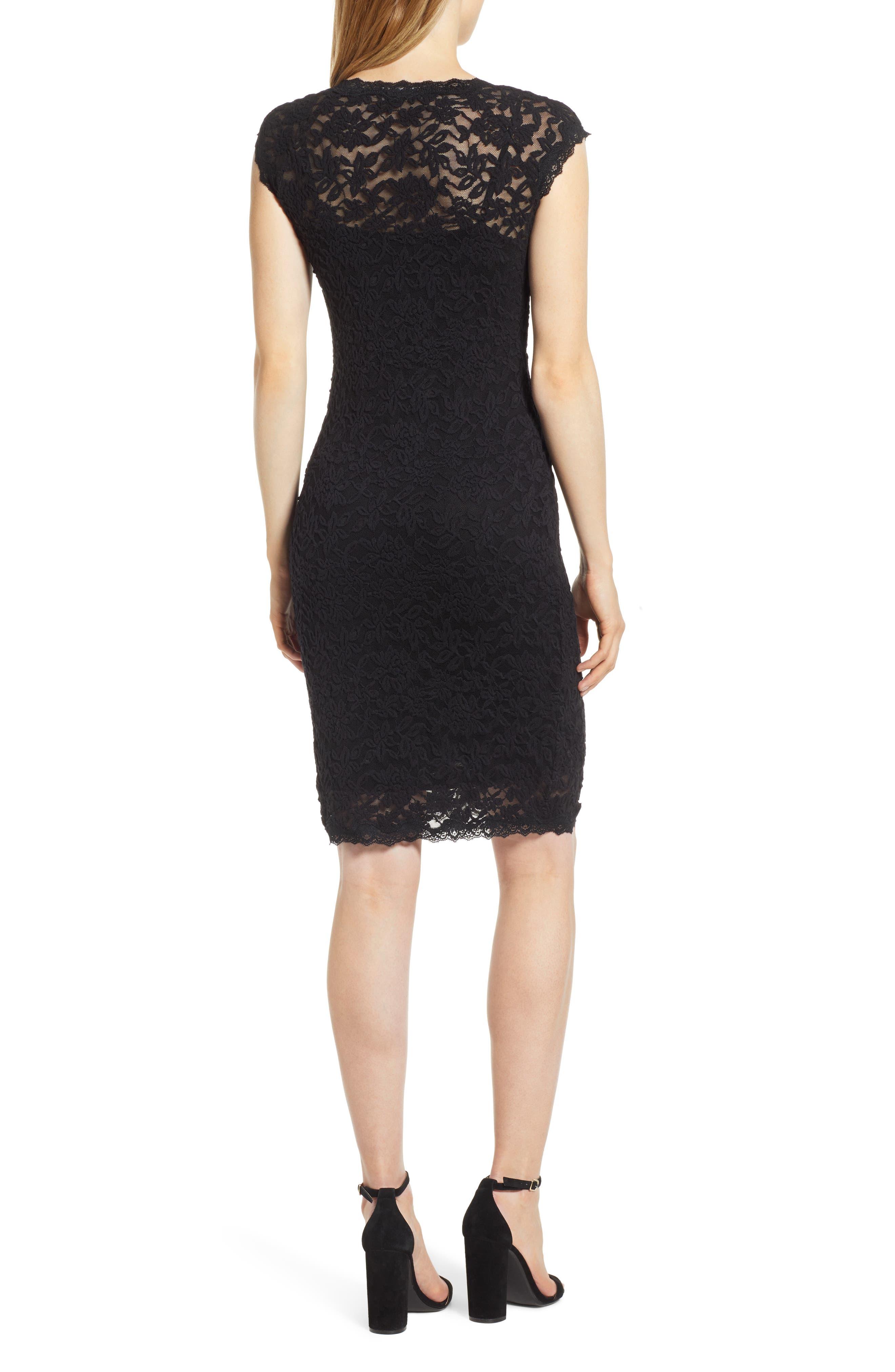ROSEMUNDE, Delicia V-Neck Dress, Alternate thumbnail 2, color, BLACK