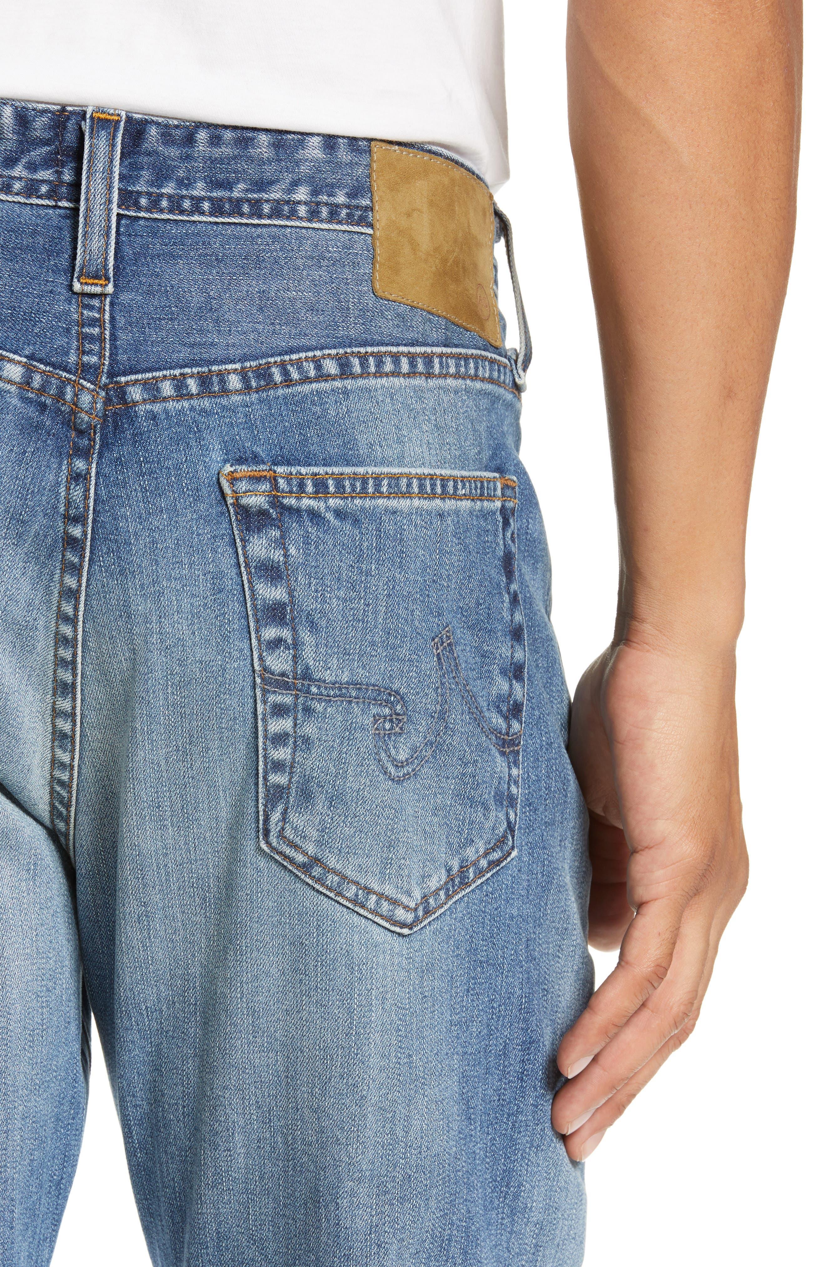 AG, Everett Slim Straight Leg Jeans, Alternate thumbnail 5, color, 21 YEARS SEIZE
