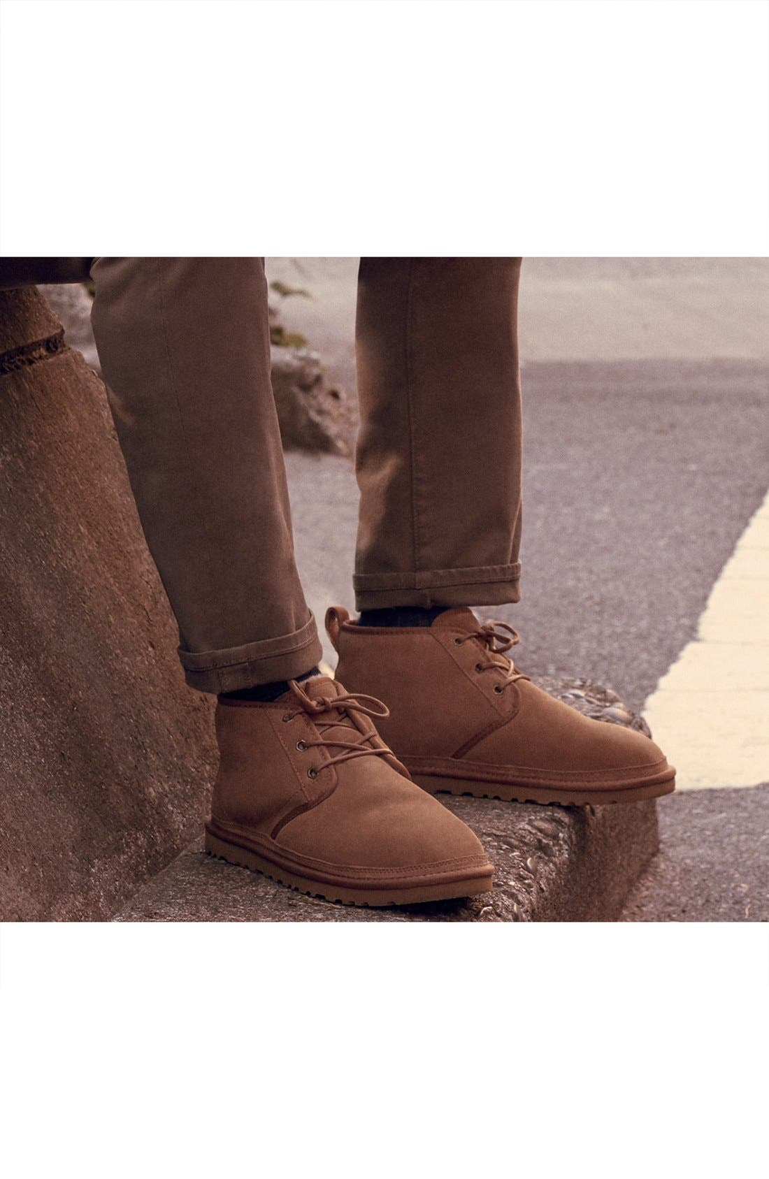 UGG<SUP>®</SUP>, Neumel Chukka Boot, Alternate thumbnail 9, color, CHARCOAL SUEDE