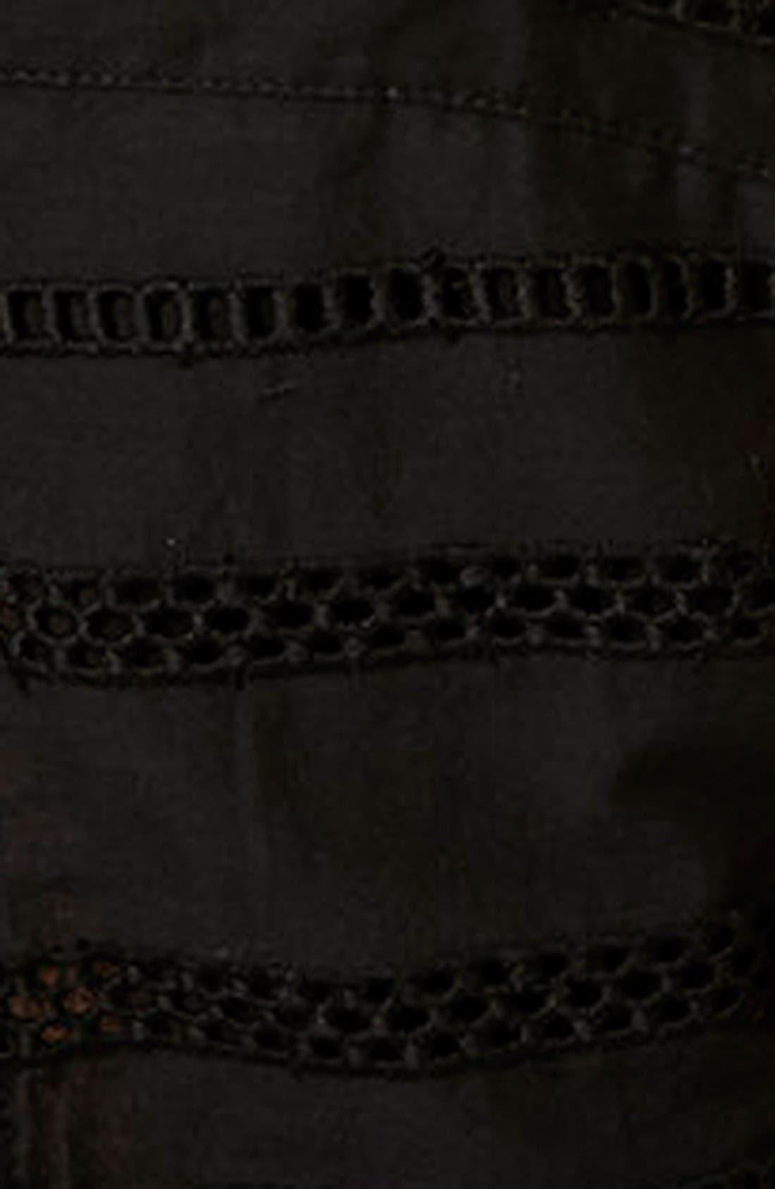 TOPSHOP, Lace Trim Overlay Sundress, Alternate thumbnail 4, color, 001