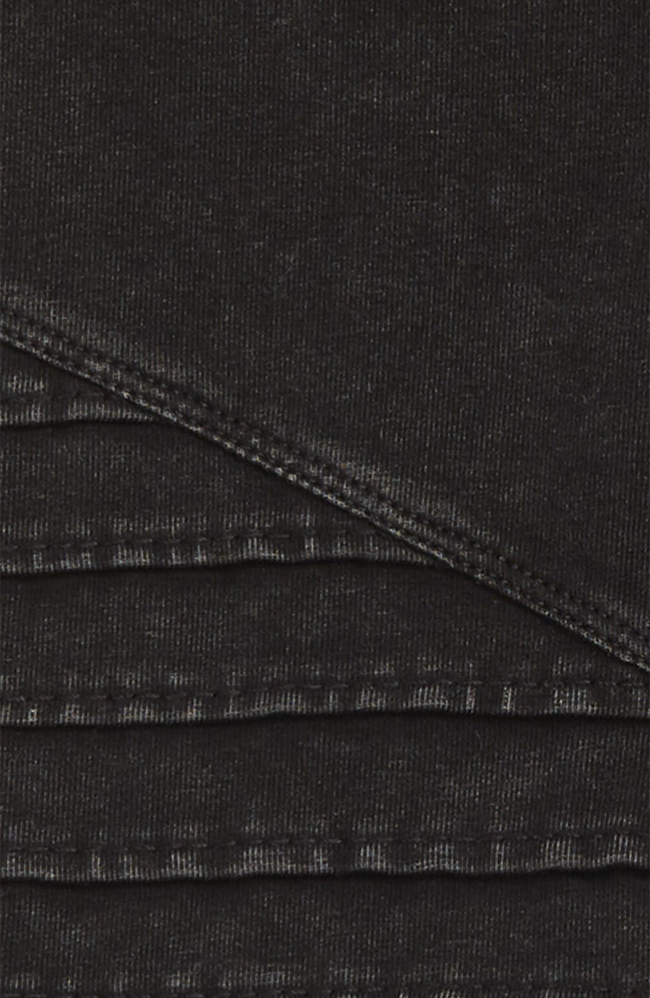 TUCKER + TATE, Stretch Cotton Moto Leggings, Alternate thumbnail 2, color, BLACK ROCK WASH