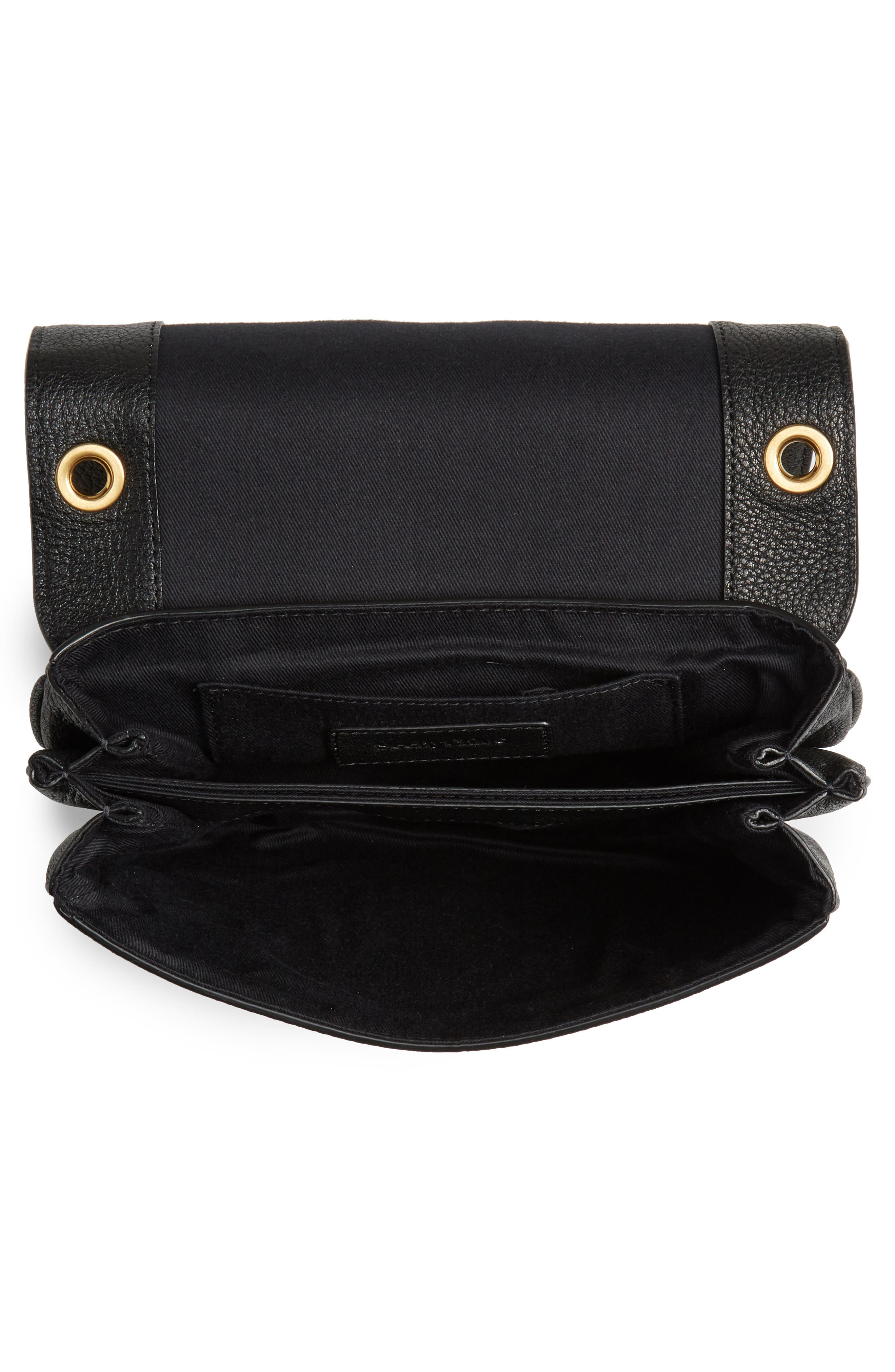 SEE BY CHLOÉ, Hana Small Leather Crossbody Bag, Alternate thumbnail 4, color, 001