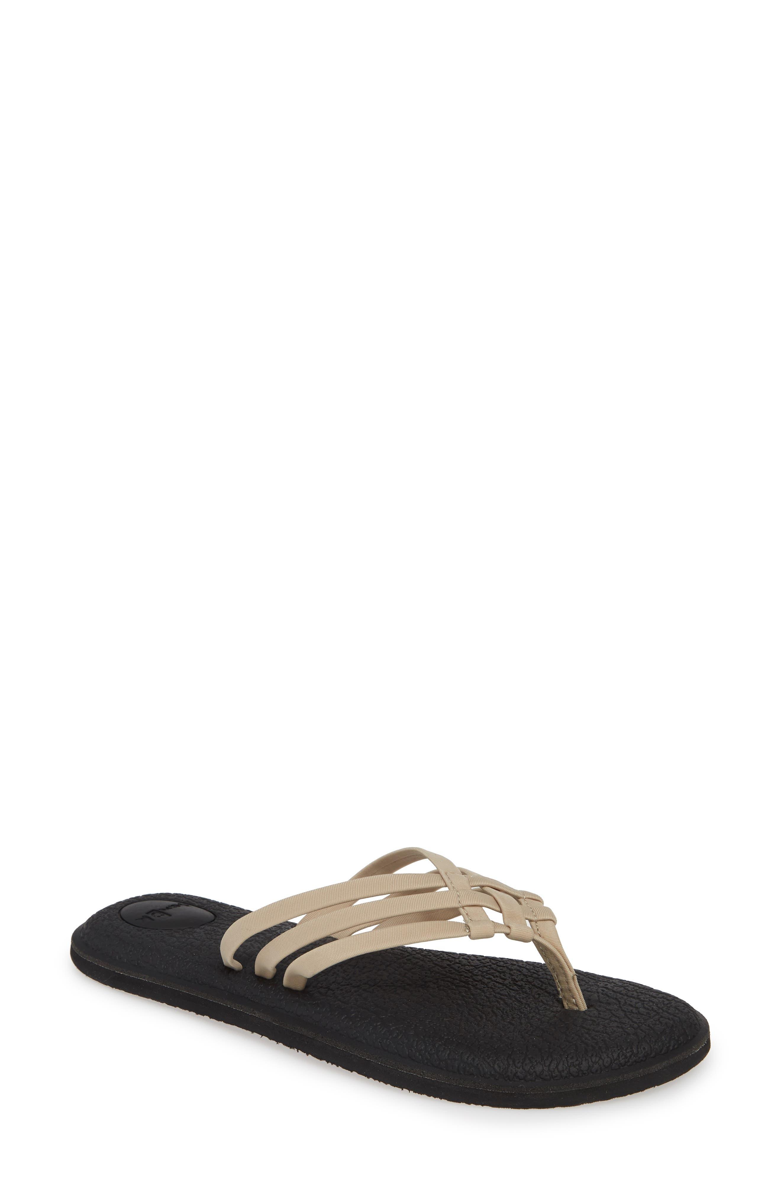 SANUK Yoga Salty Flip Flop, Main, color, NATURAL