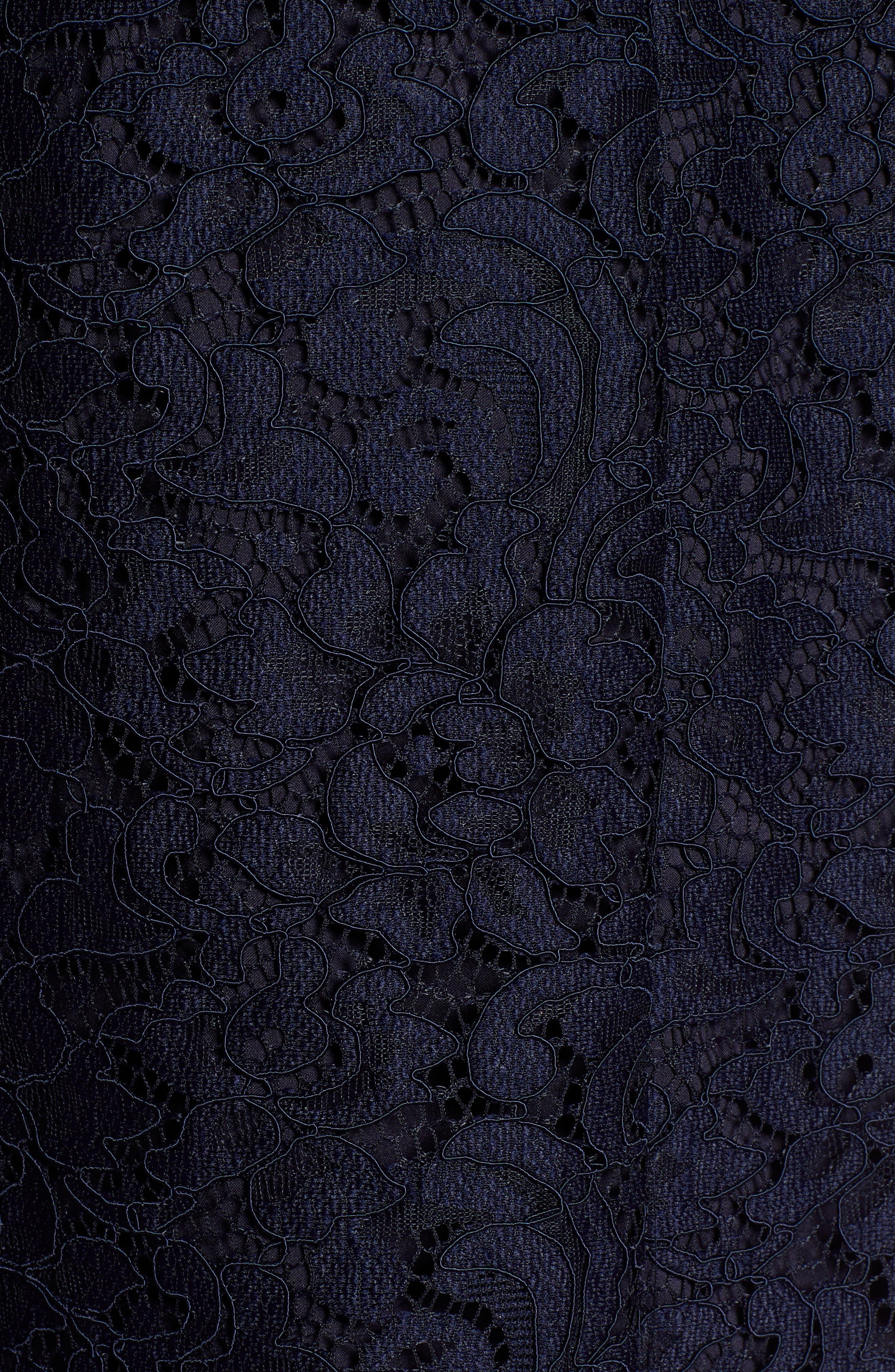 HALOGEN<SUP>®</SUP>, x Atlantic-Pacific Lace Trench Coat, Alternate thumbnail 7, color, 410