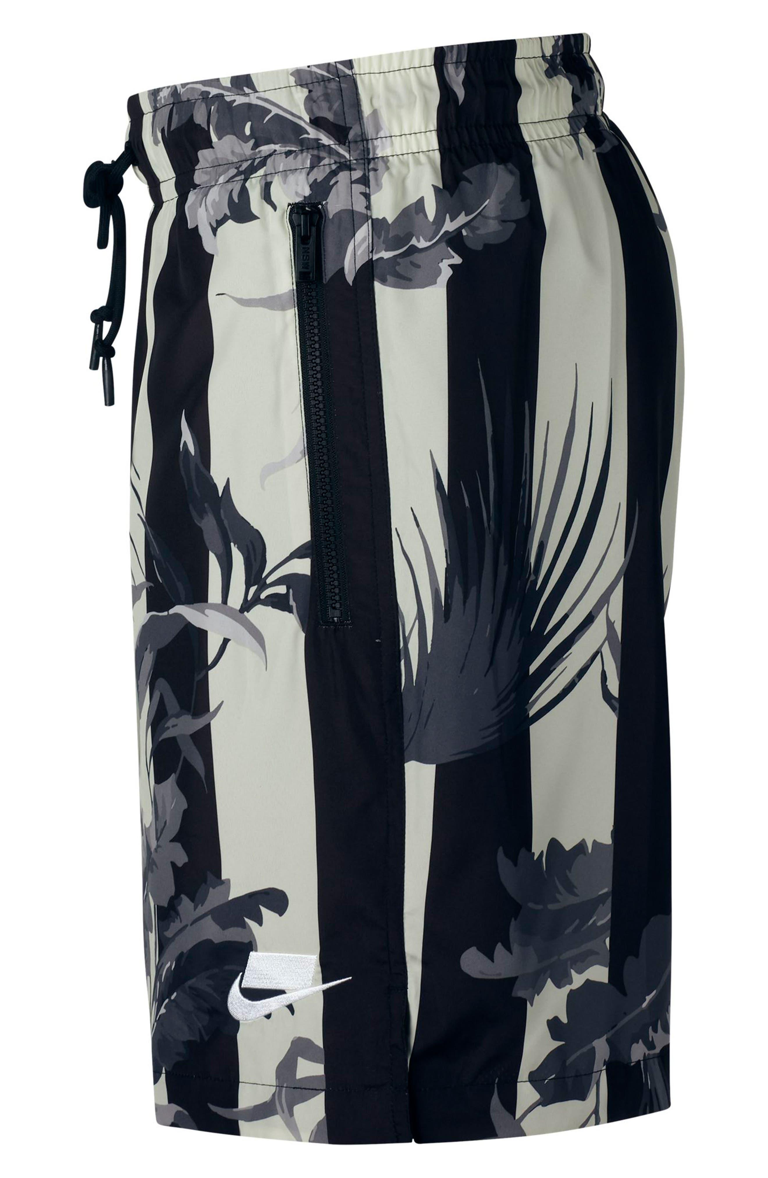 NIKE, Sportswear NSW Men's Shorts, Alternate thumbnail 4, color, BLACK/ WHITE
