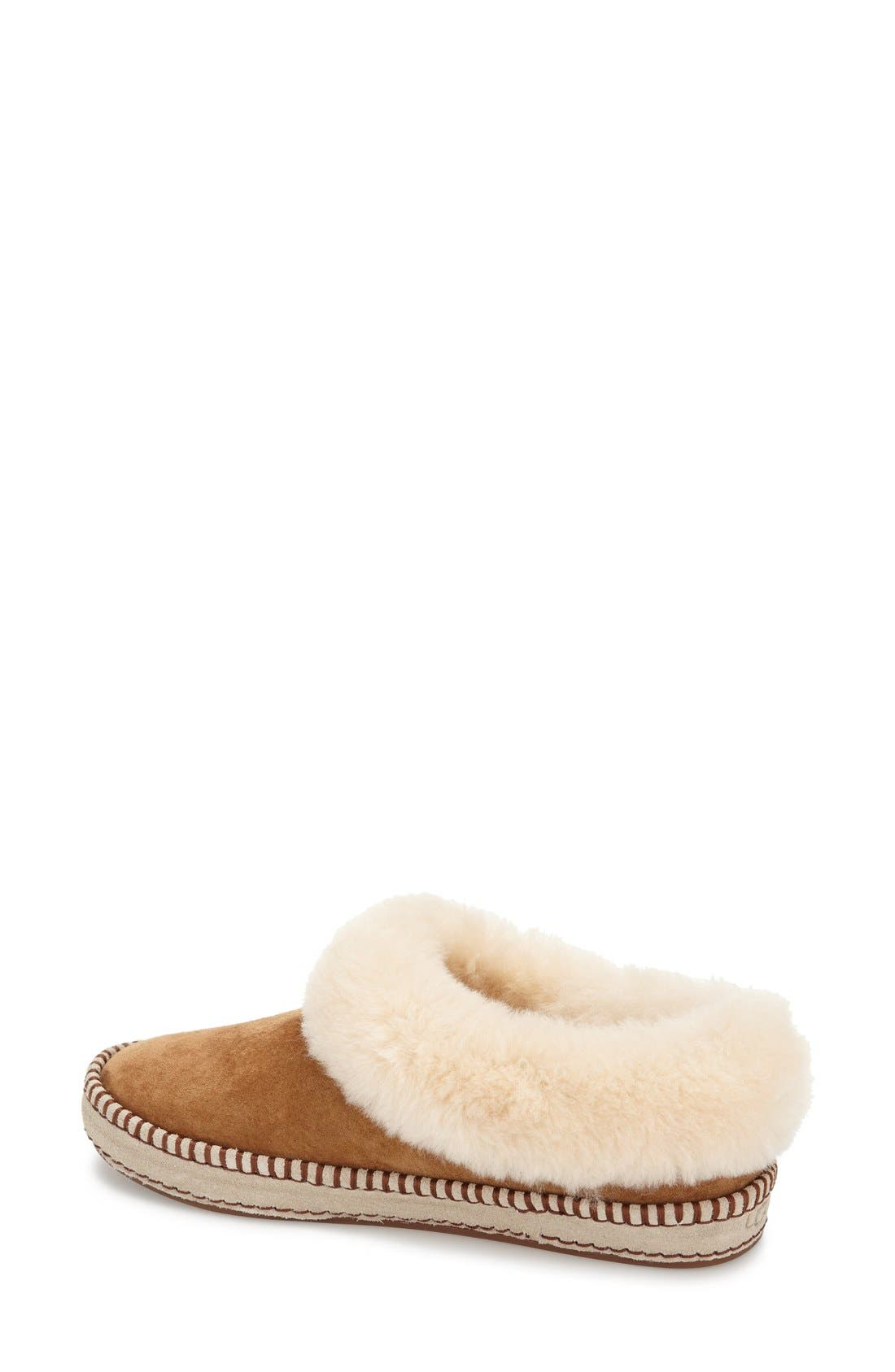 UGG<SUP>®</SUP>, Wrin Slipper, Alternate thumbnail 3, color, CHESTNUT SUEDE