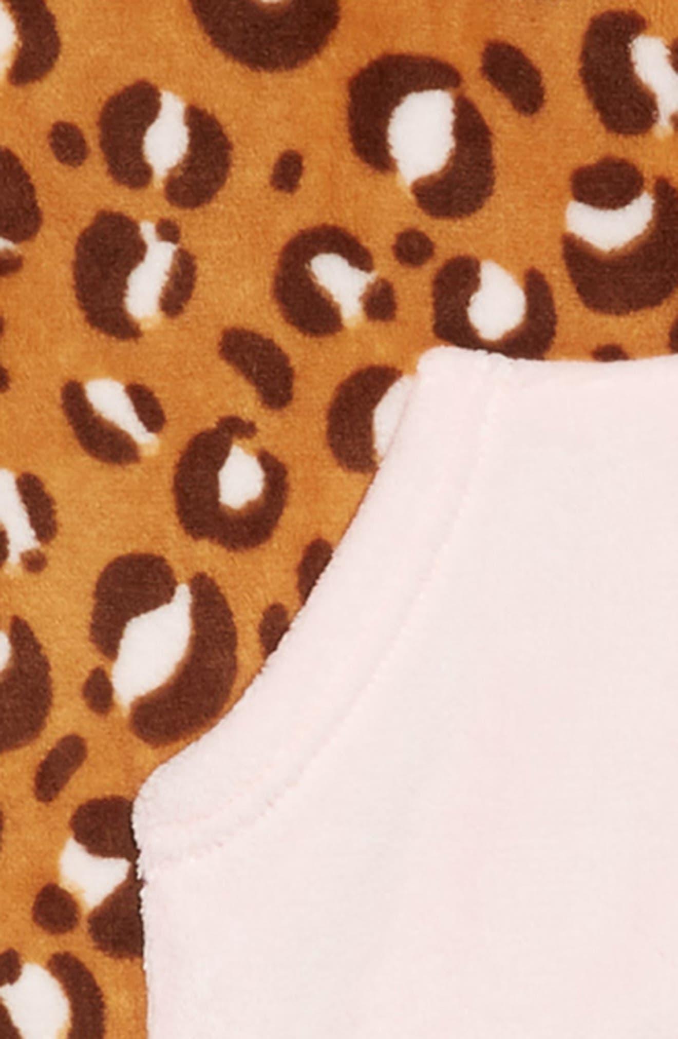 TUCKER + TATE, One-Piece Pajamas, Alternate thumbnail 2, color, TAN DALE PUNK CHEETAH