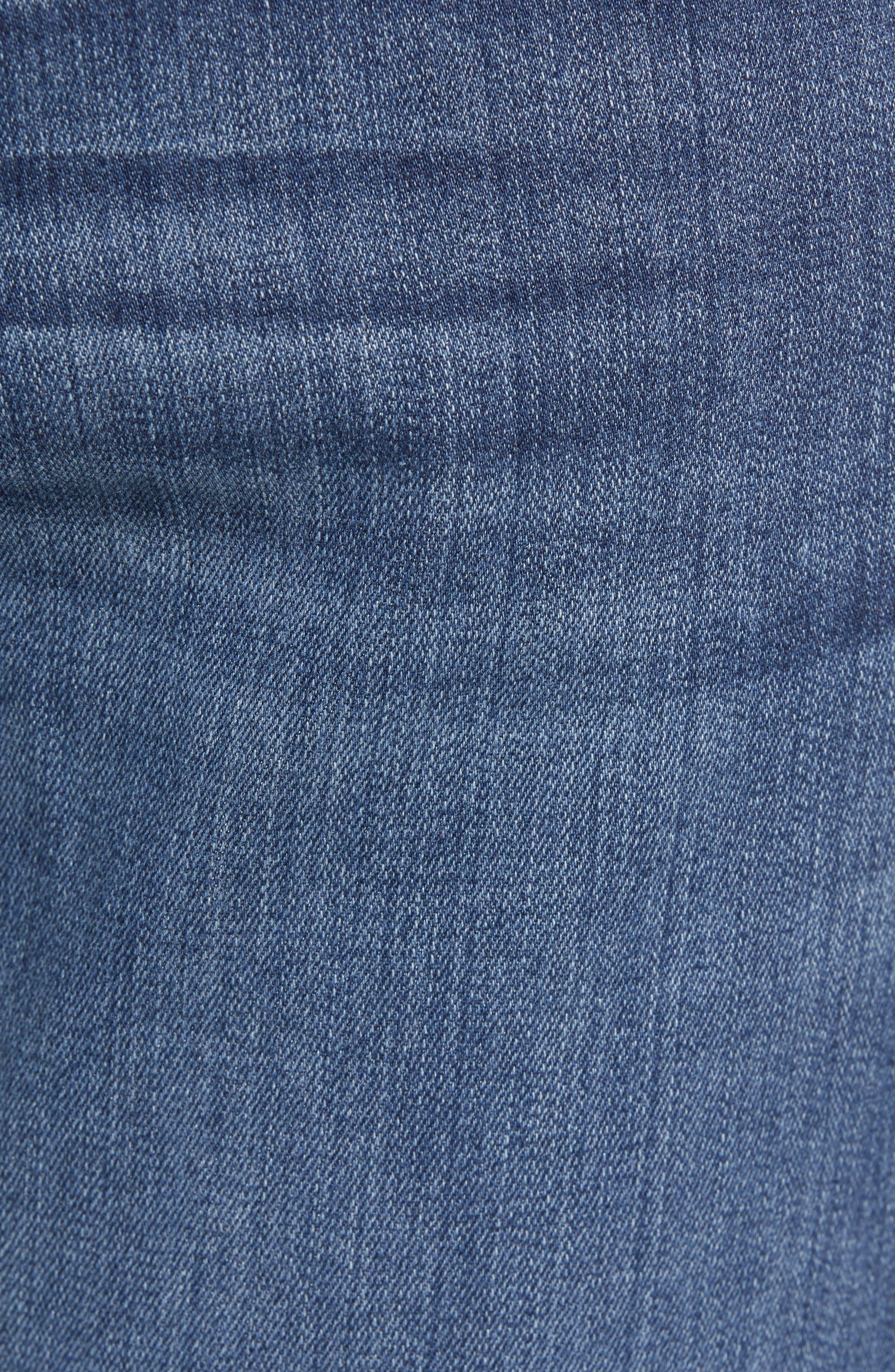 PAIGE, Transcend - Normandie Straight Leg Jeans, Alternate thumbnail 6, color, BIRCH