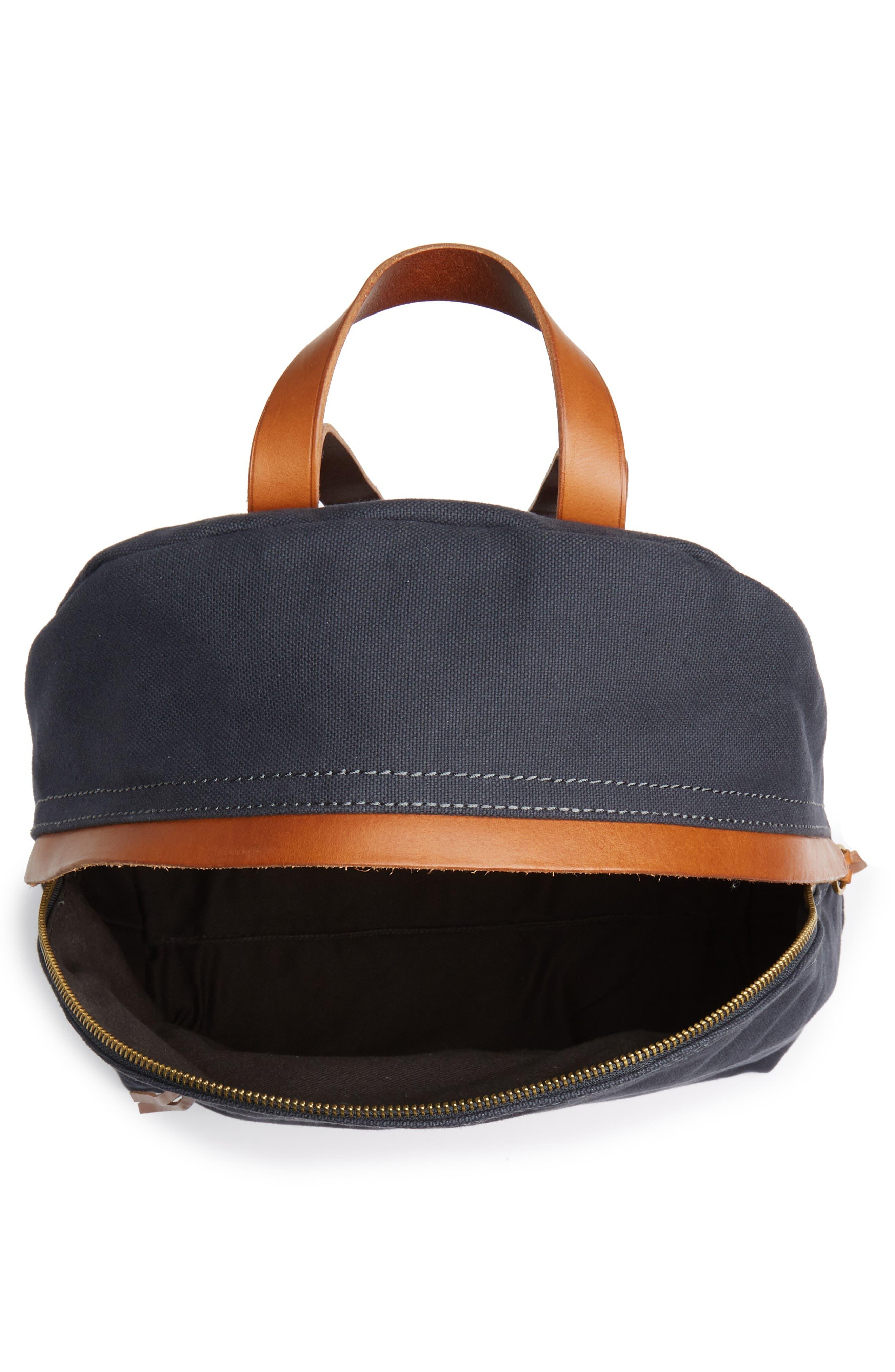 MADEWELL, The Charleston Backpack, Alternate thumbnail 5, color, BLACK SEA