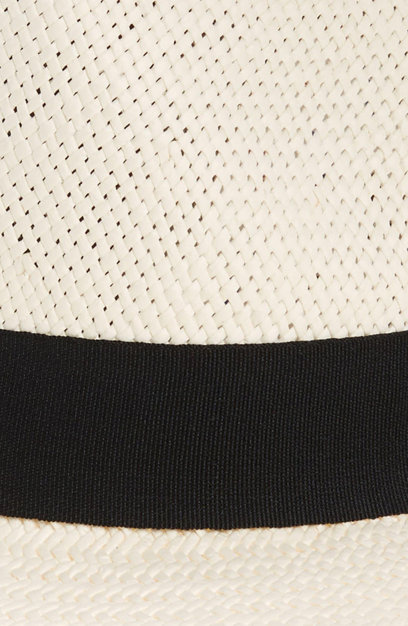 HALOGEN<SUP>®</SUP>, Straw Panama Hat, Alternate thumbnail 2, color, 900