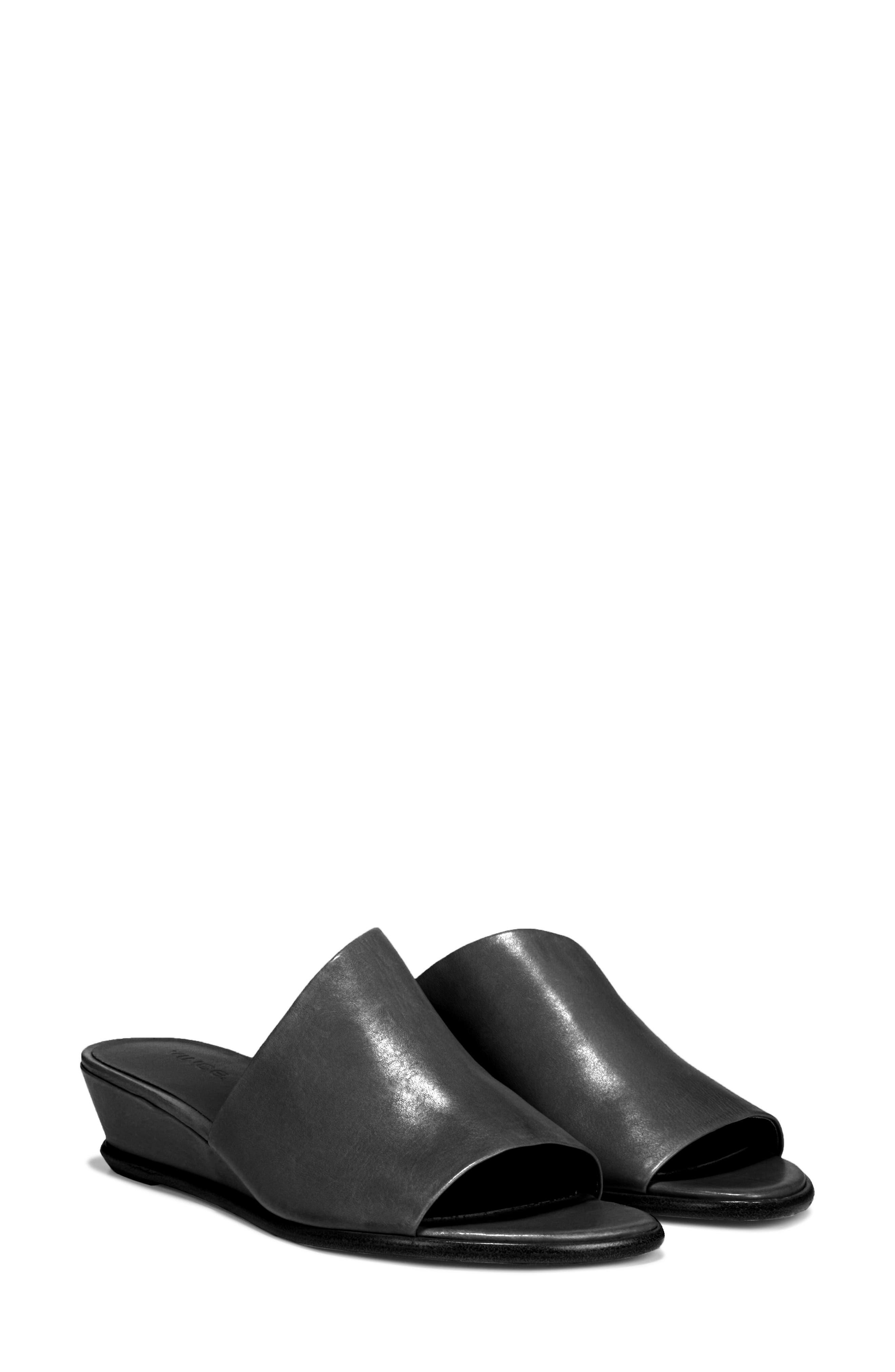 VINCE, Duvall Asymmetrical Wedge Sandal, Alternate thumbnail 8, color, BLACK
