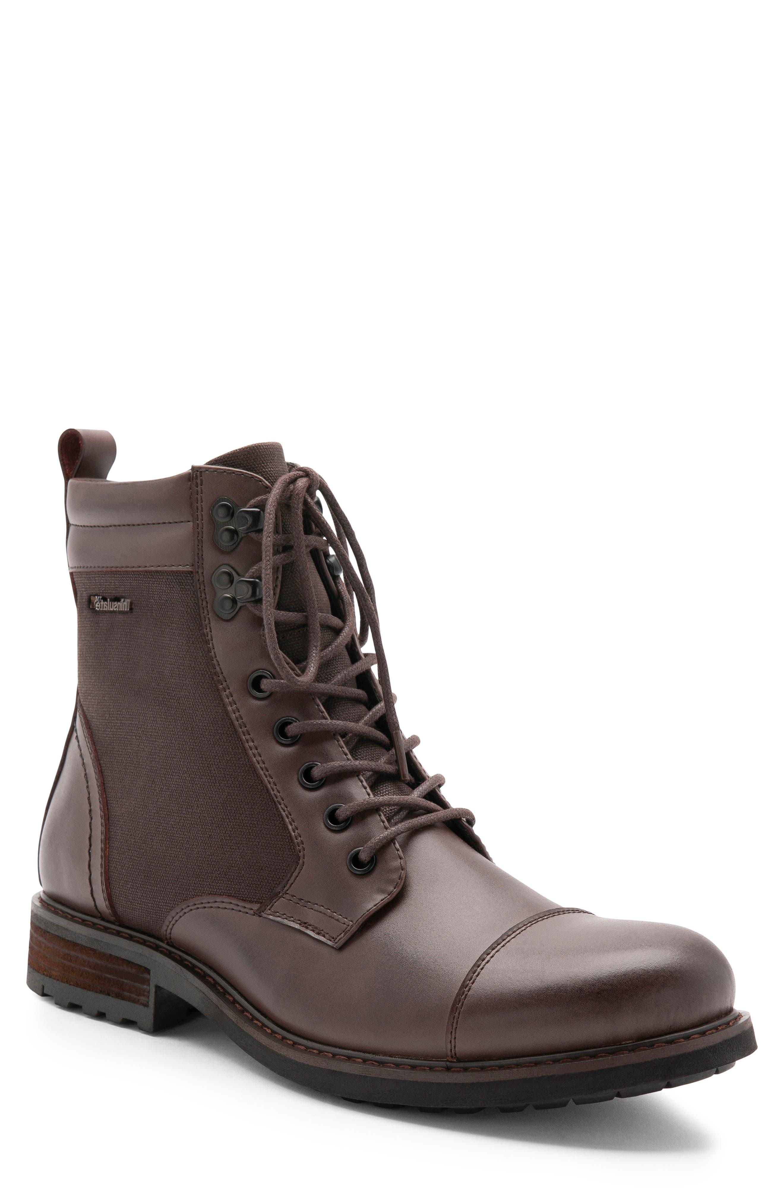 Blondo Paxton Waterproof Cap Toe Boot, Brown