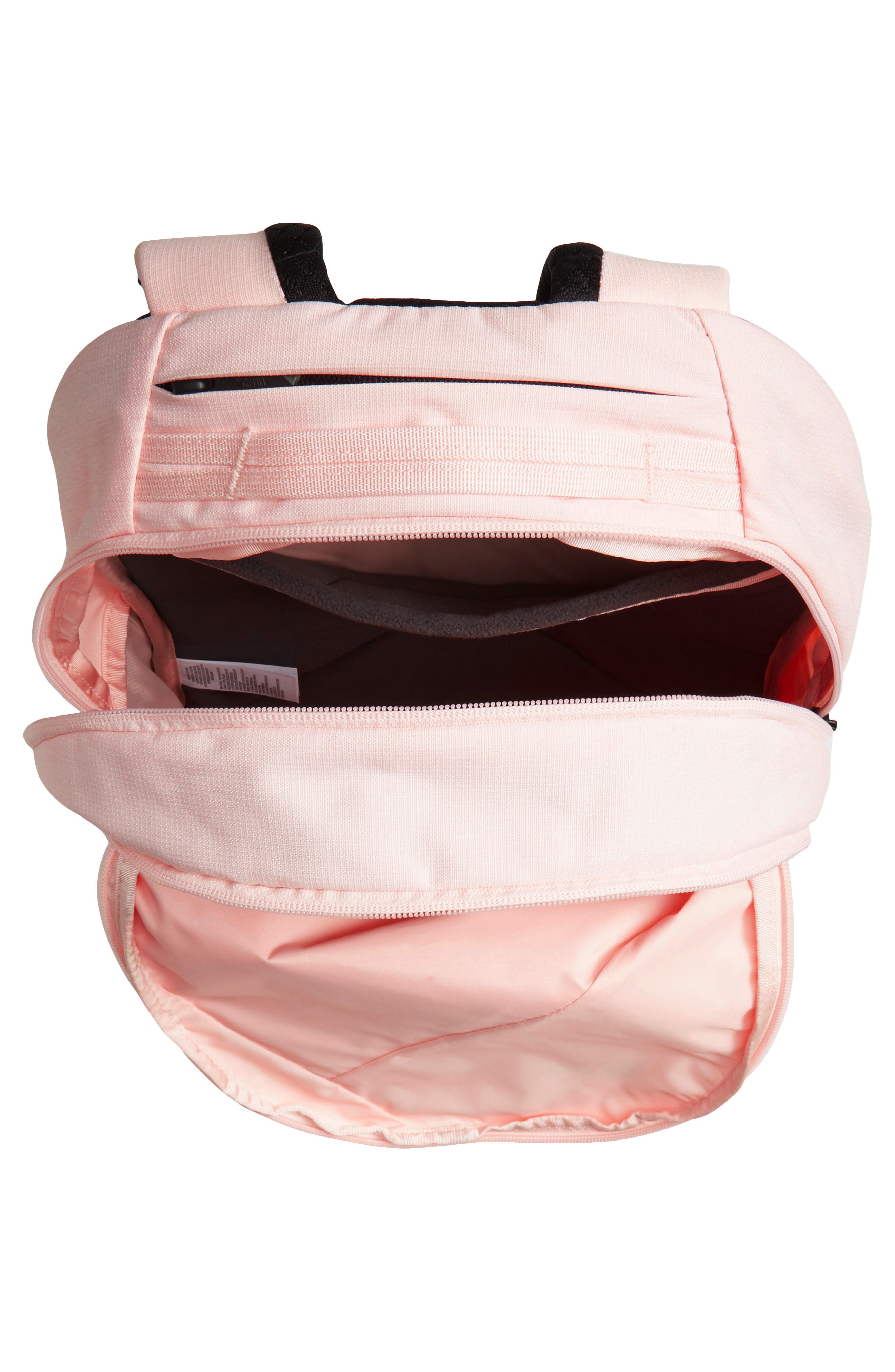THE NORTH FACE, 'Isabella' Backpack, Alternate thumbnail 5, color, PINK LIGHT HEATHER/ TNF BLACK