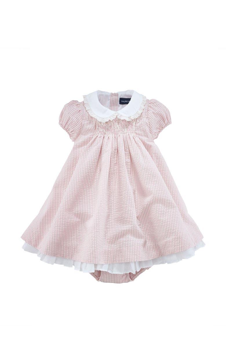 10d6e5c93 Ralph Lauren Puff Sleeve Dress (Infant)   Nordstrom