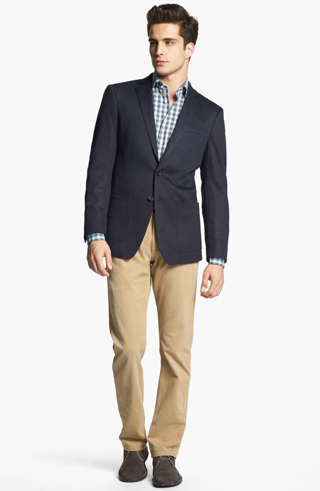 JOHN VARVATOS STAR USA, 'Fagan' Trim Fit Knit Sportcoat, Alternate thumbnail 3, color, 410