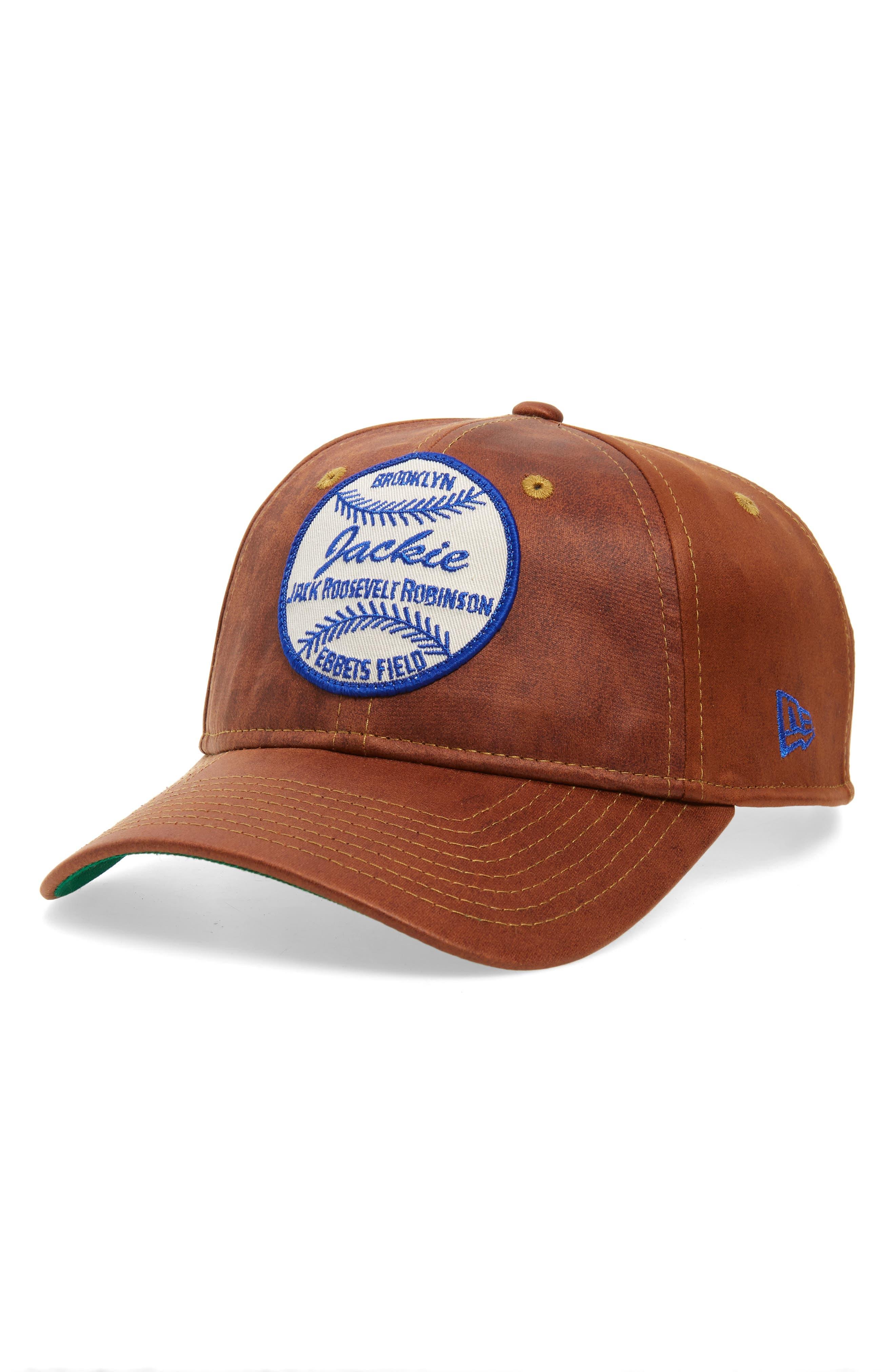 NEW ERA CAP, Jackie Robinson 9Twenty Baseball Cap, Main thumbnail 1, color, BROWN
