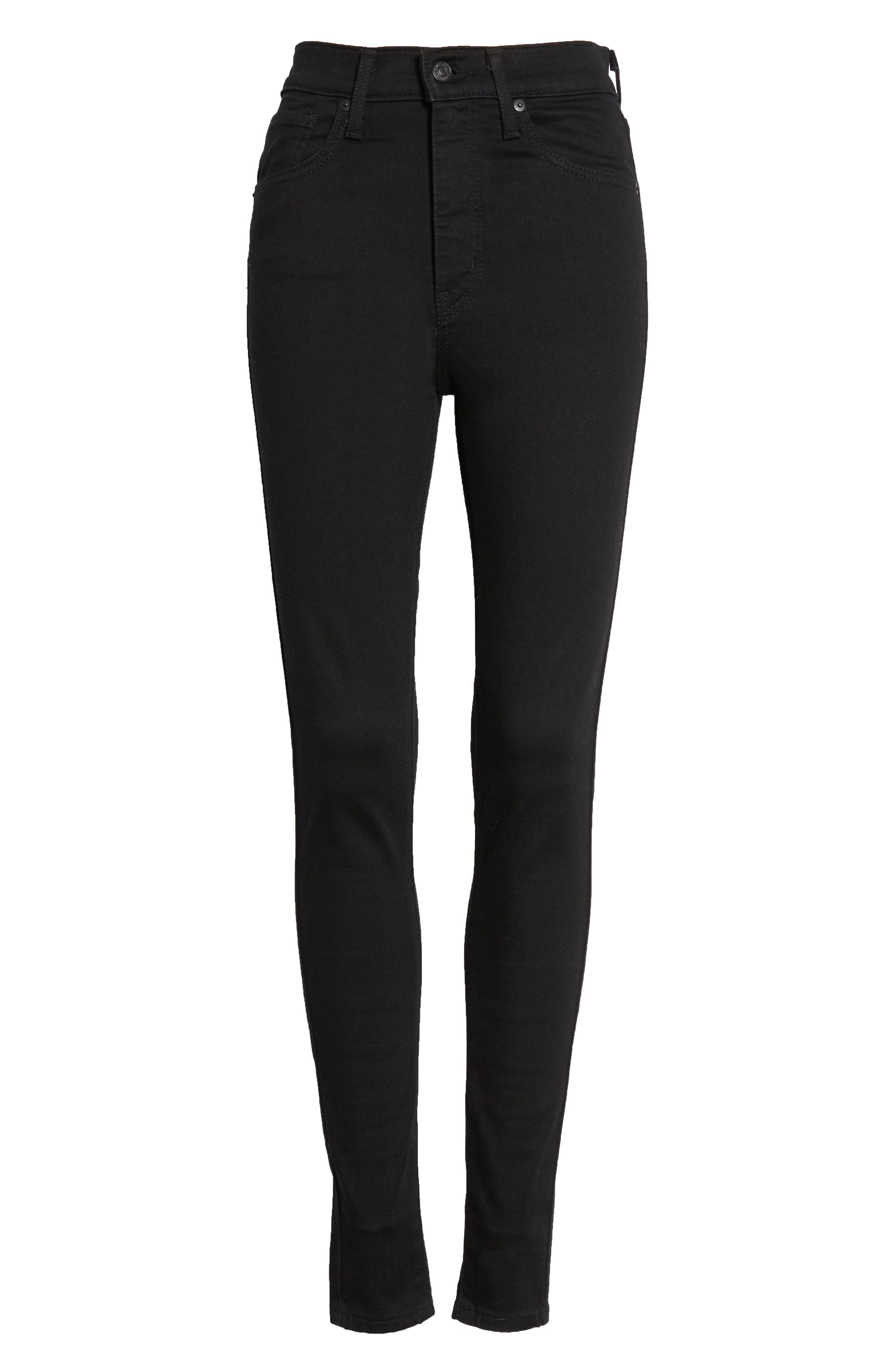 LEVI'S<SUP>®</SUP>, Mile High Super Skinny Jeans, Alternate thumbnail 7, color, BLACK GALAXY