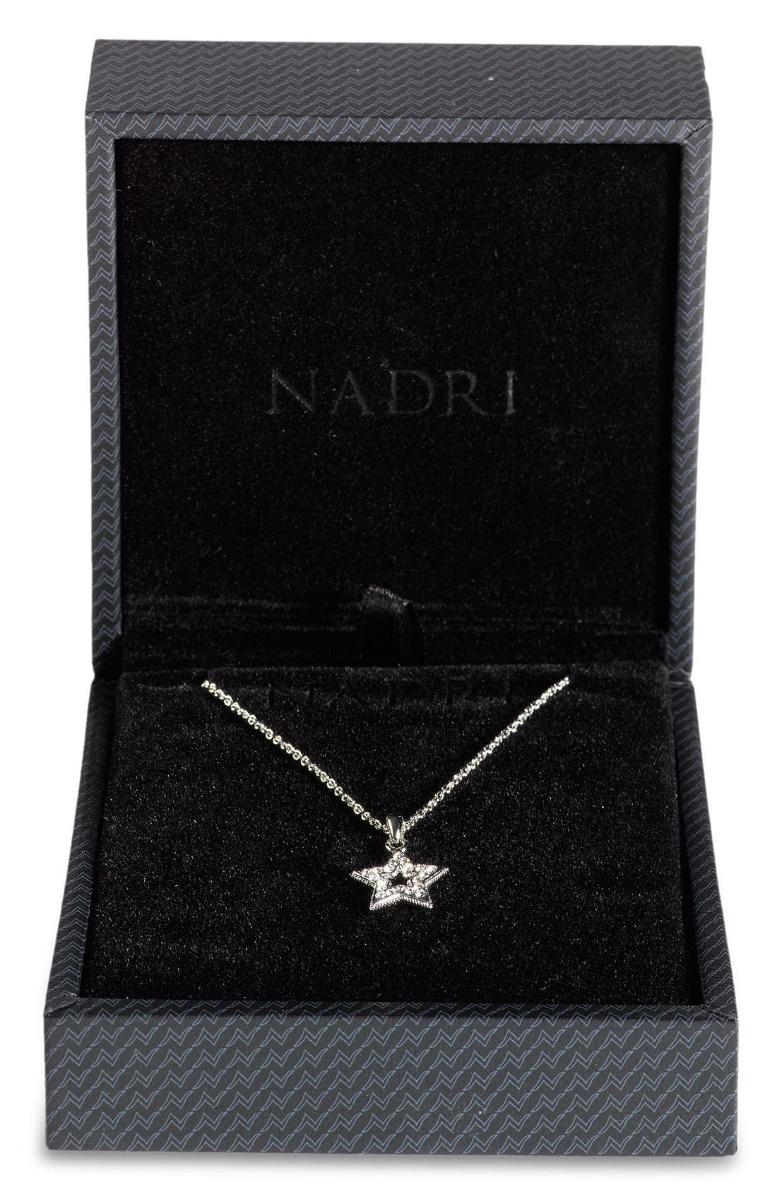 NADRI, Small Star Pendant Boxed Necklace, Alternate thumbnail 2, color, 040
