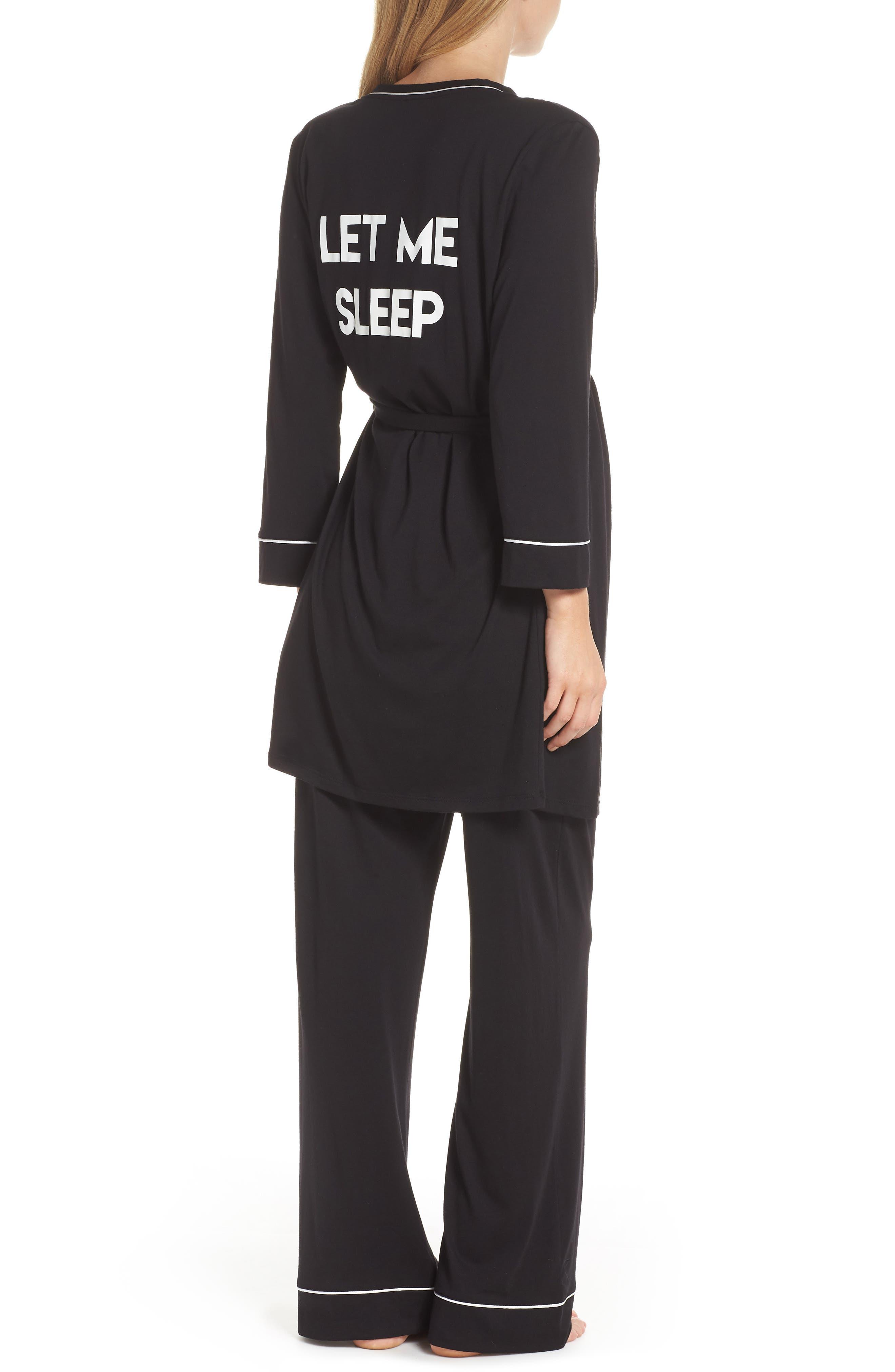 COSABELLA, Let Me Sleep Maternity/Nursing Pajamas & Robe Set, Alternate thumbnail 2, color, 013