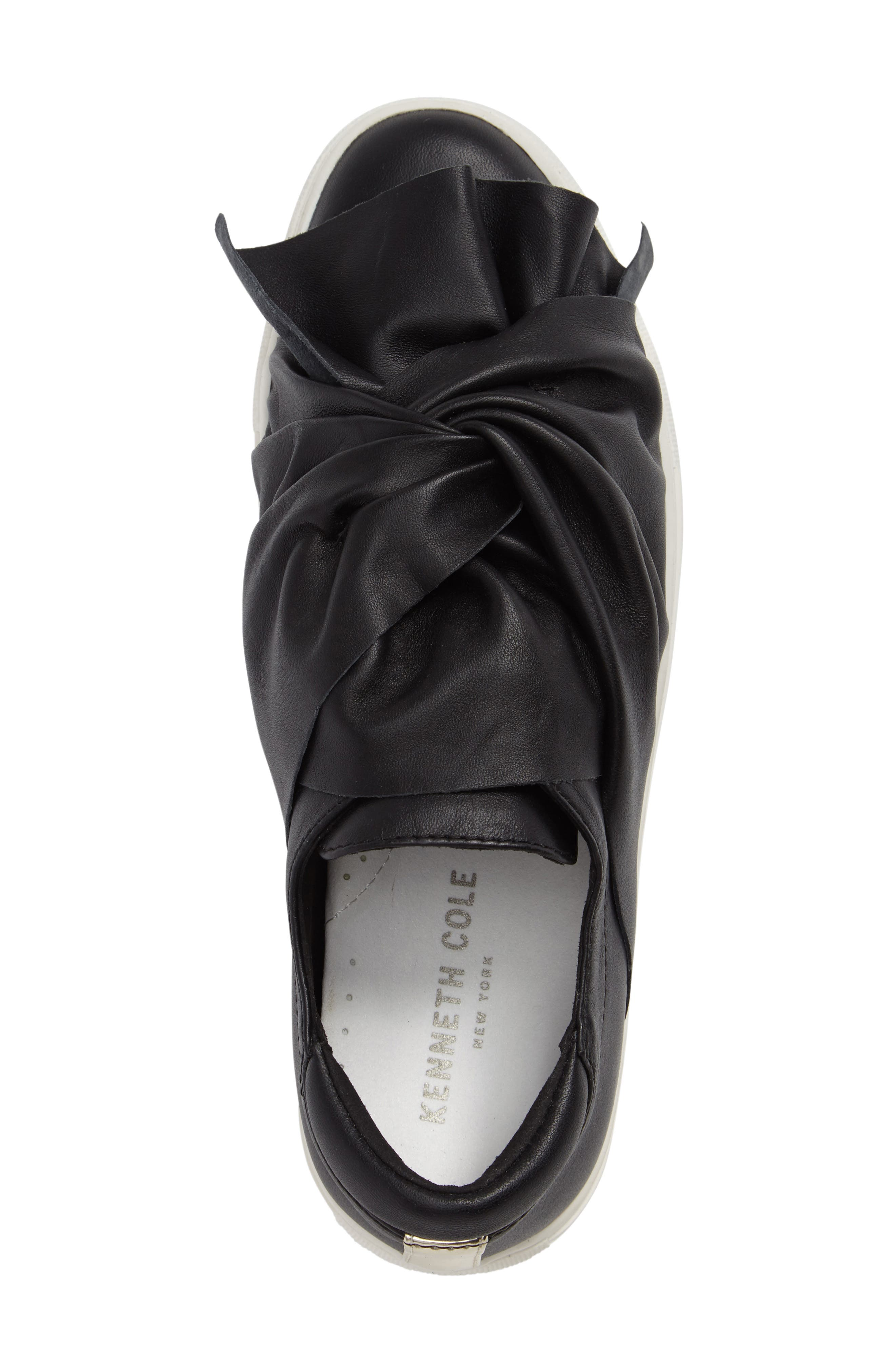 KENNETH COLE NEW YORK, Kenneth Cole Aaron Twisted Knot Flatform Sneaker, Alternate thumbnail 3, color, 001