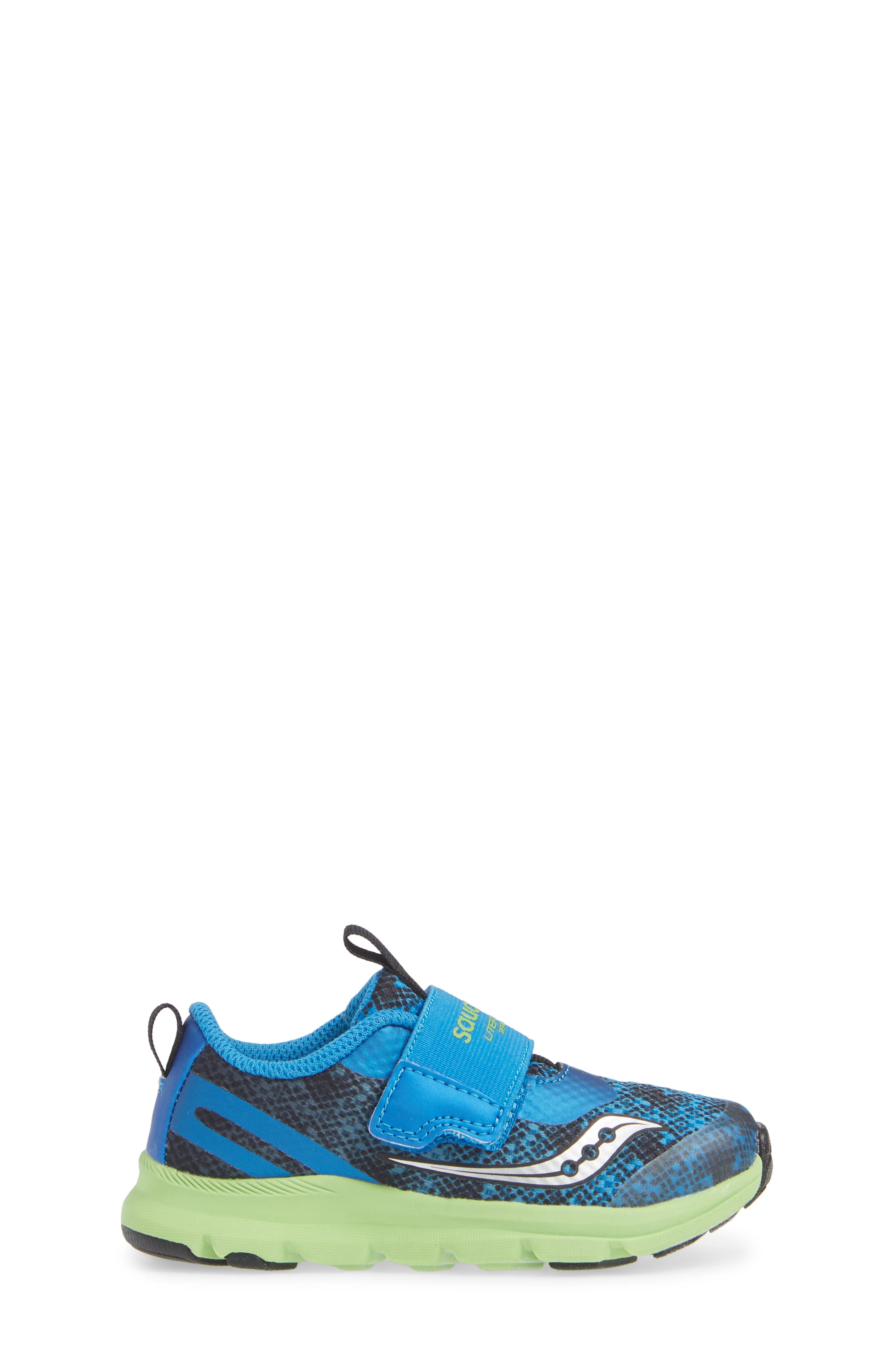 SAUCONY, Baby Liteform Sneaker, Alternate thumbnail 3, color, BLUE/ GREEN