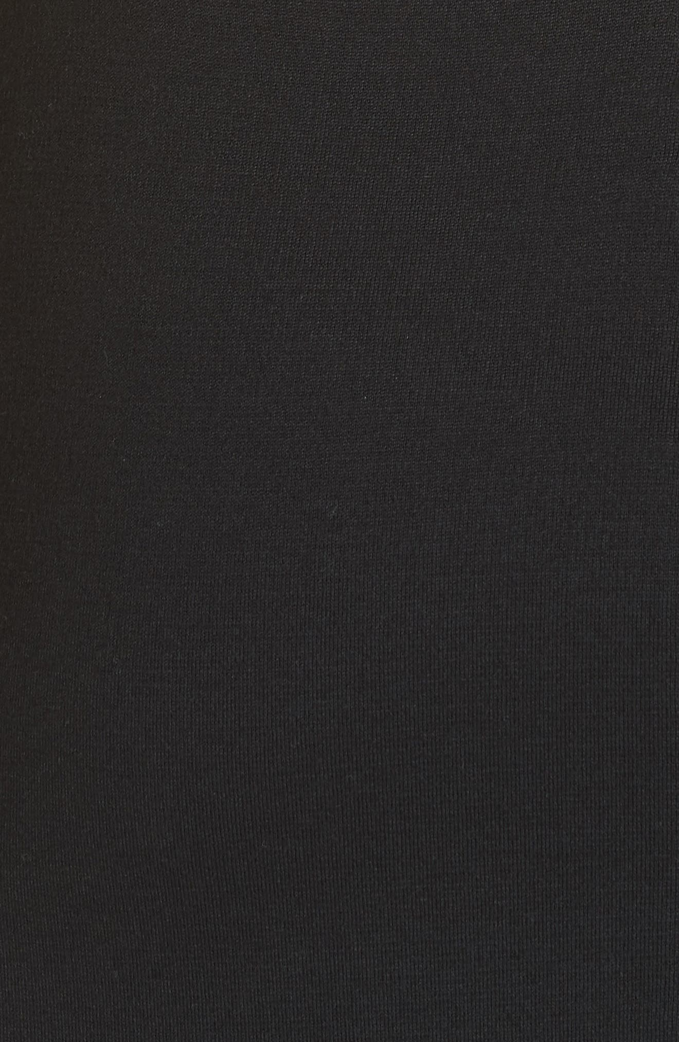 ST. JOHN COLLECTION, Sleeveless Milano Knit Dress, Alternate thumbnail 6, color, CAVIAR