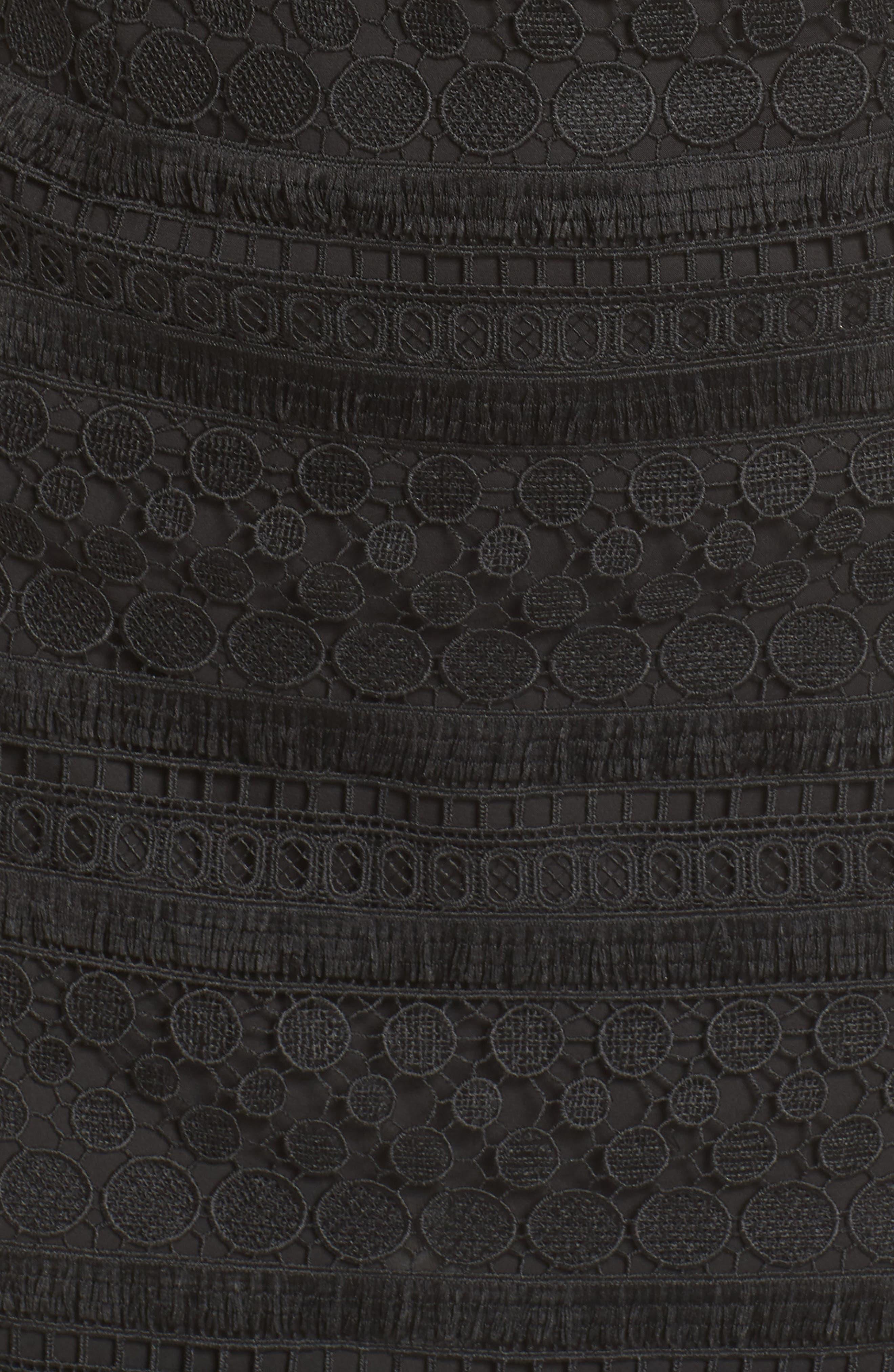 SAM EDELMAN, Lace Sheath Dress, Alternate thumbnail 6, color, 001