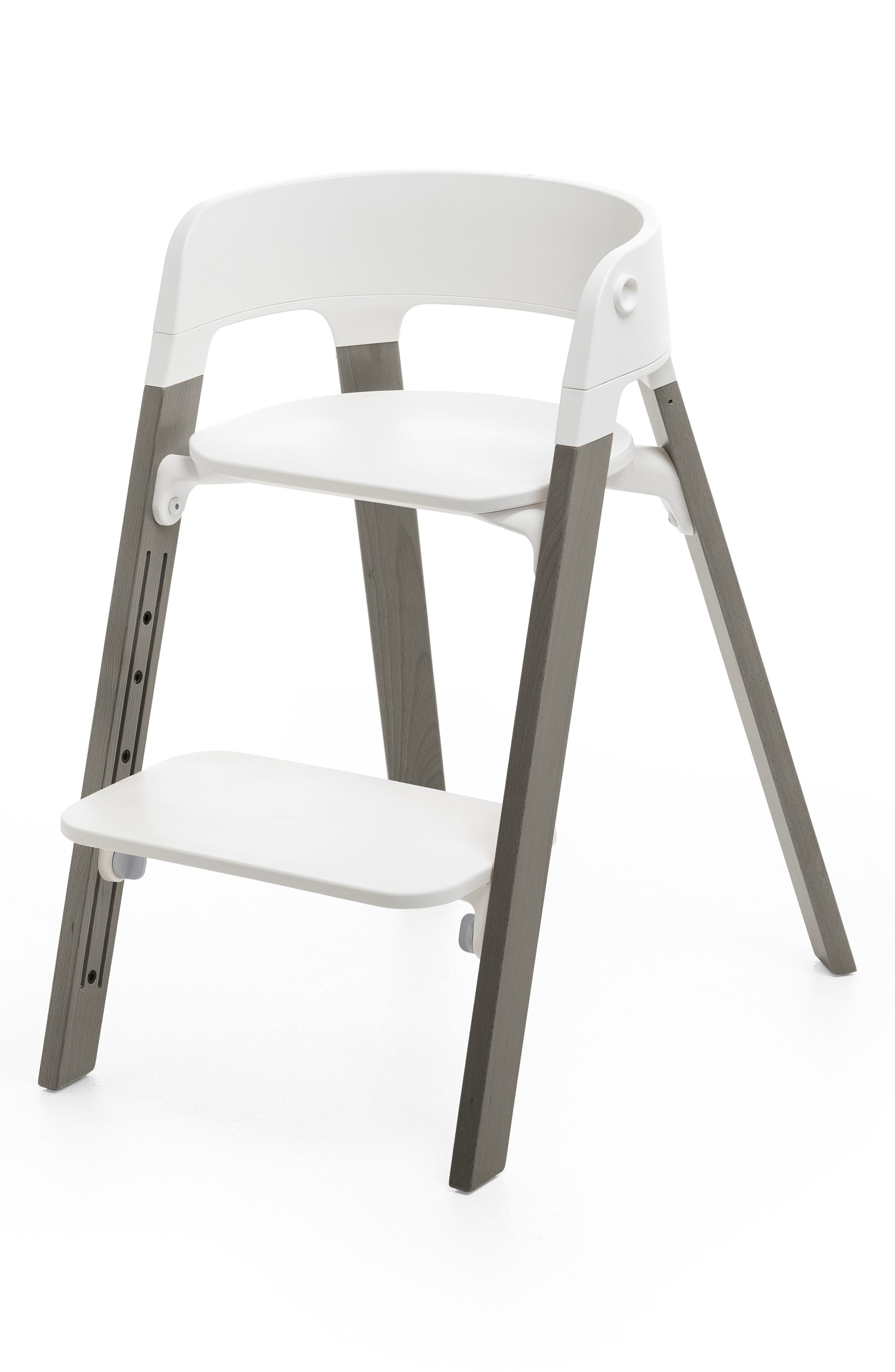 STOKKE, Steps<sup>™</sup> High Chair & Tray, Alternate thumbnail 2, color, GREY