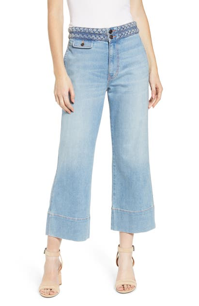 Current Elliott Jeans The Braided High Waist Crop Jeans